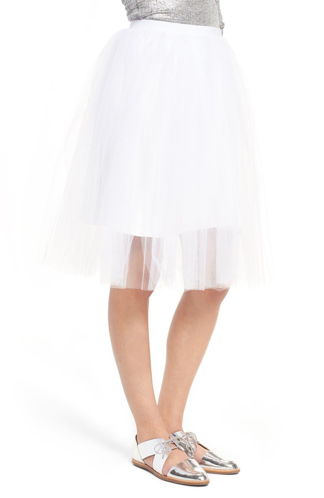 Tulle Skirt,                             Main thumbnail 1, color,                             104
