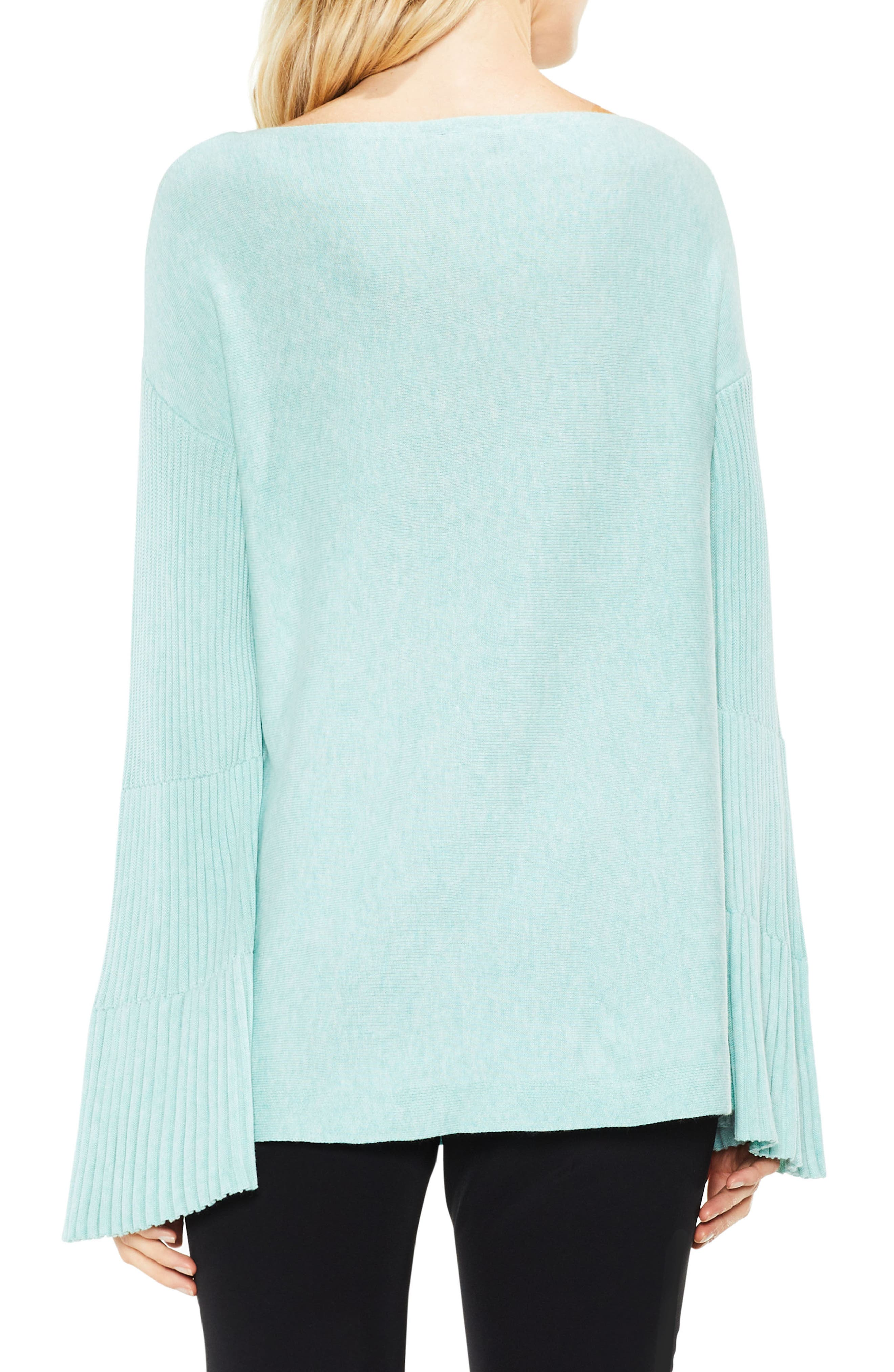 Bell Sleeve Ribbed Sweater,                             Alternate thumbnail 15, color,