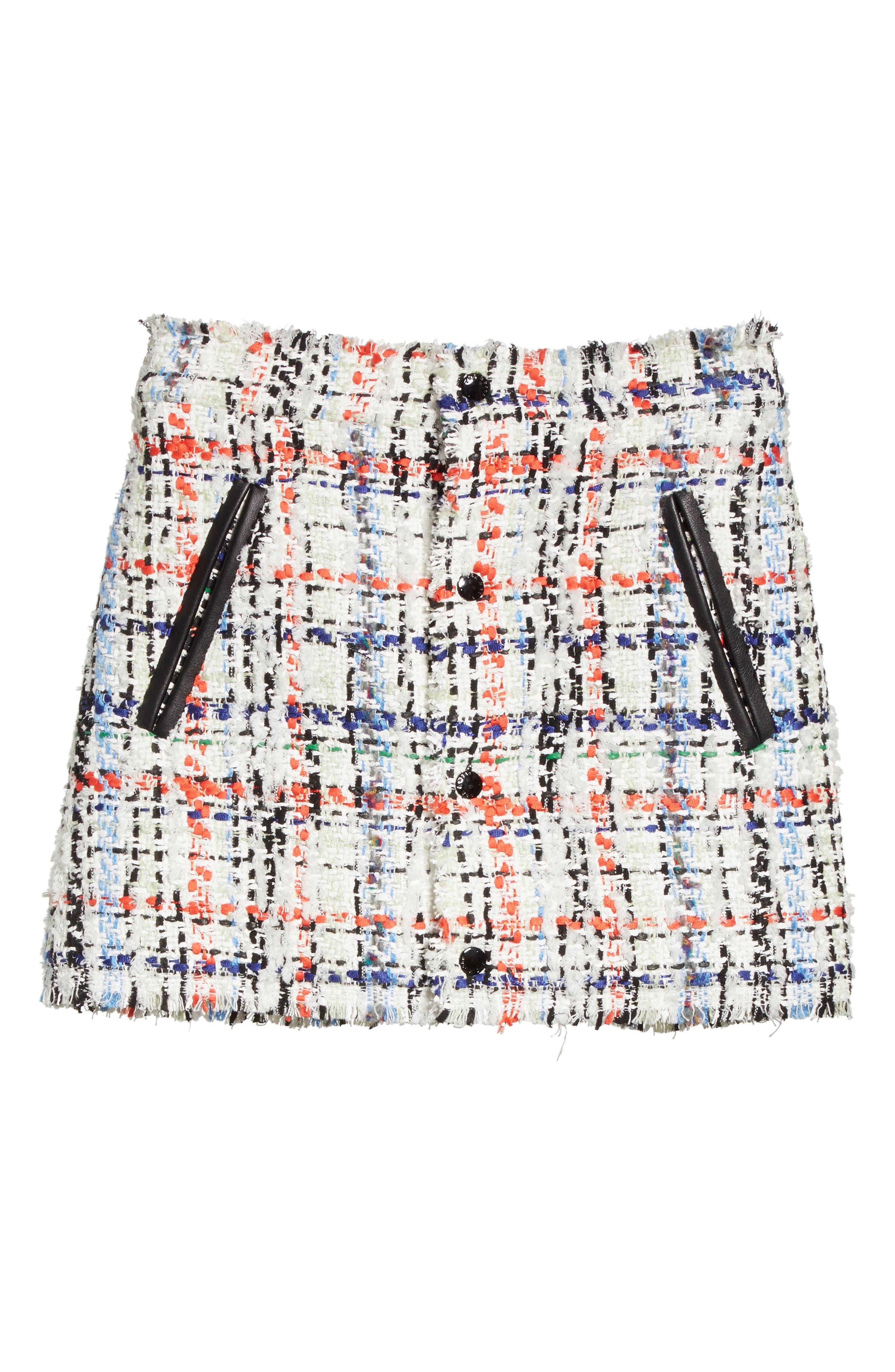 Otis Tweed Miniskirt,                             Alternate thumbnail 6, color,                             169
