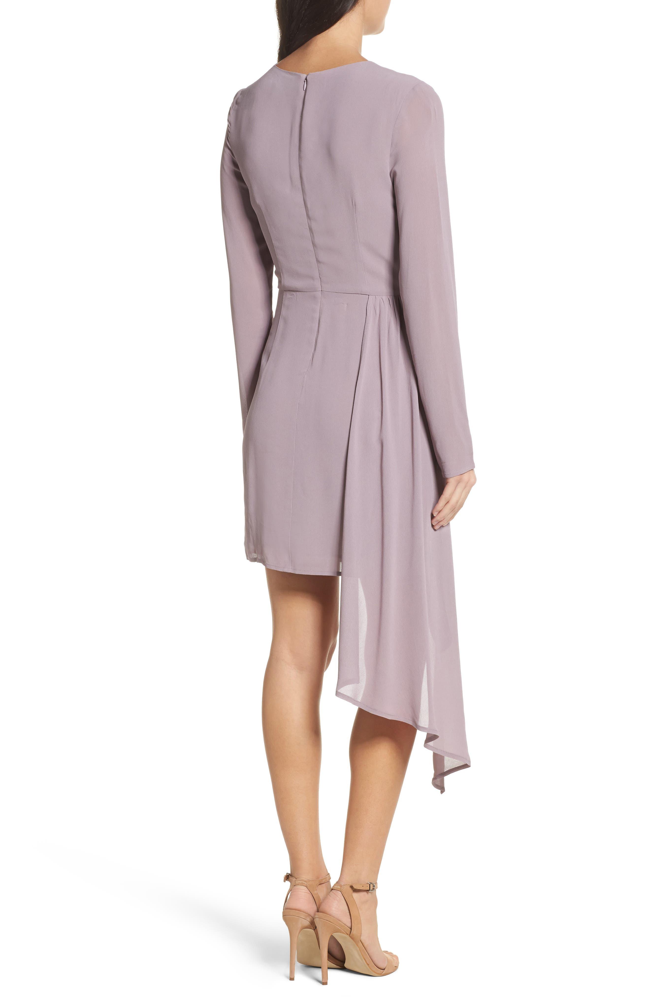 Stilla Asymmetric Drape Dress,                             Alternate thumbnail 2, color,                             535
