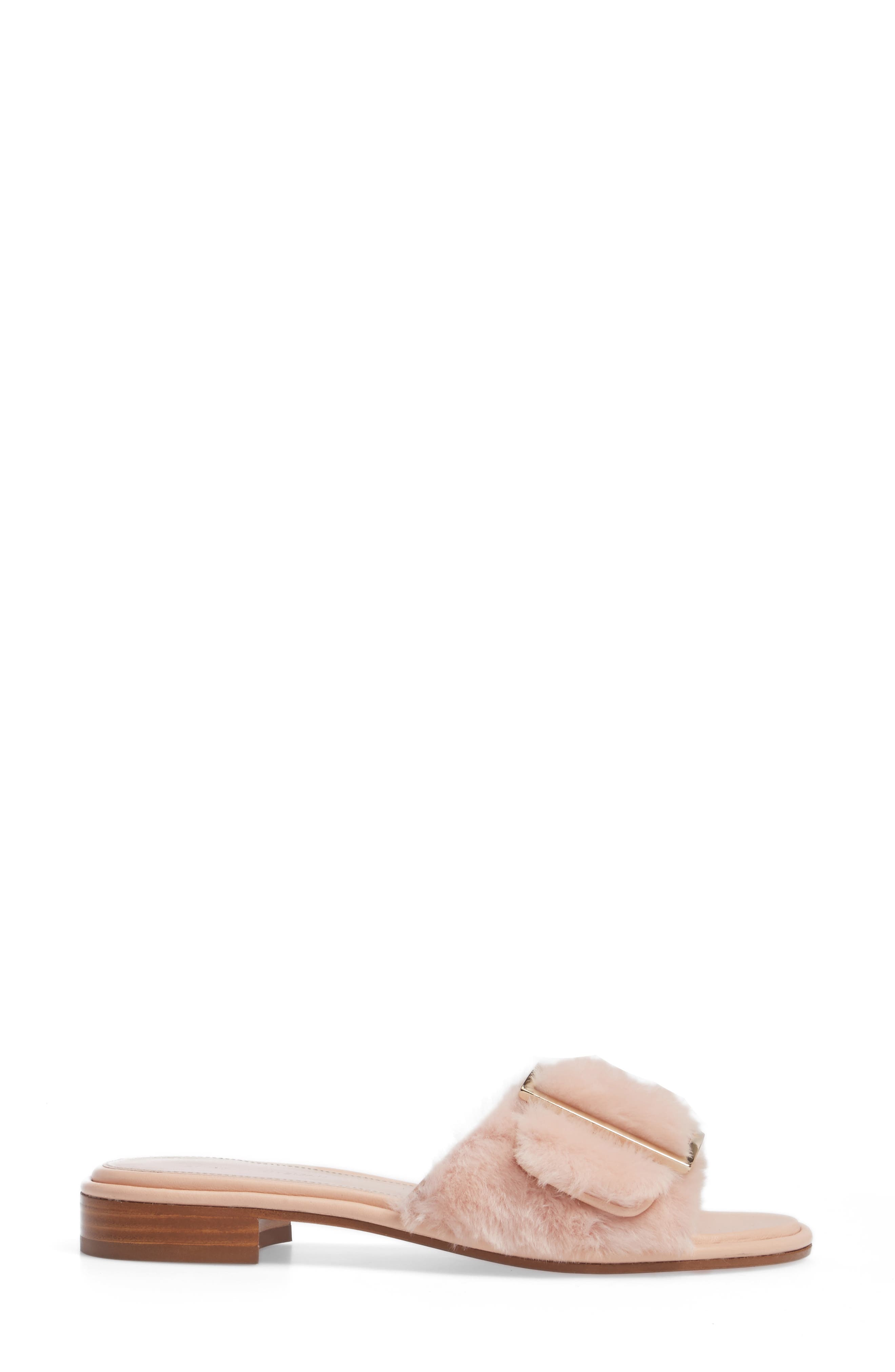 Fuzzywuz Genuine Shearling Slide Sandal,                             Alternate thumbnail 3, color,                             270