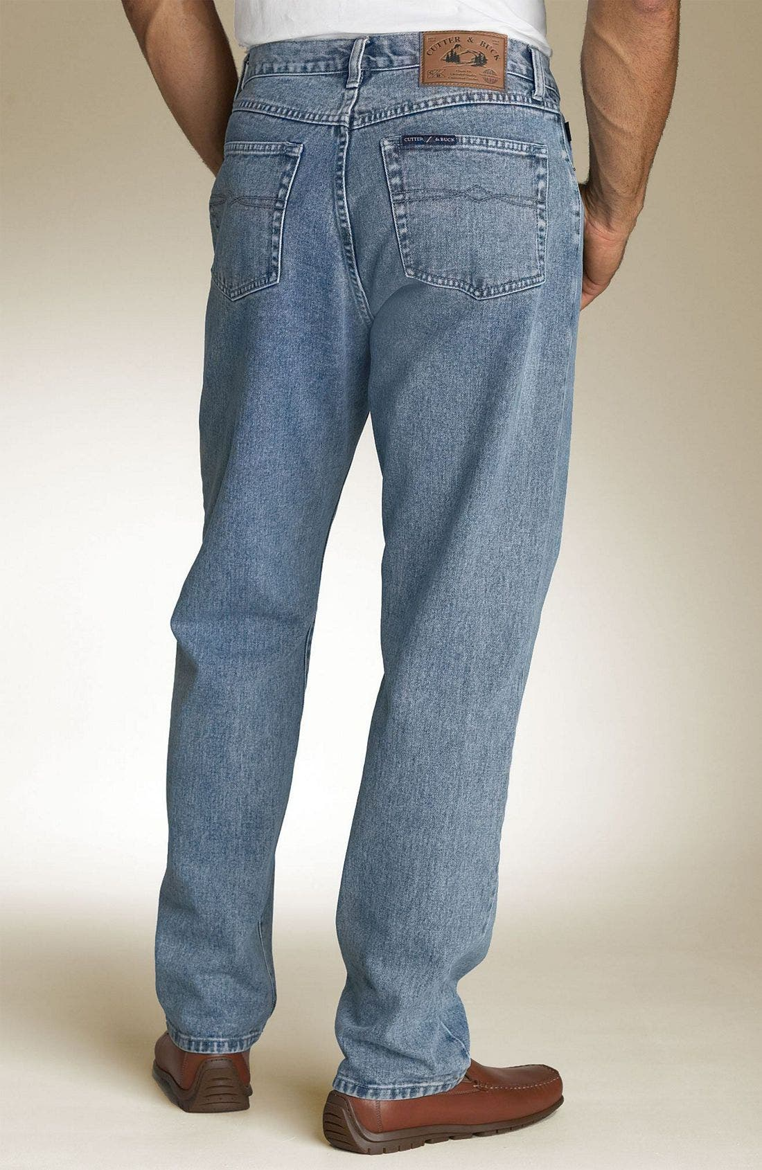 Classic Five Pocket Straight Leg Jeans,                             Alternate thumbnail 5, color,                             461