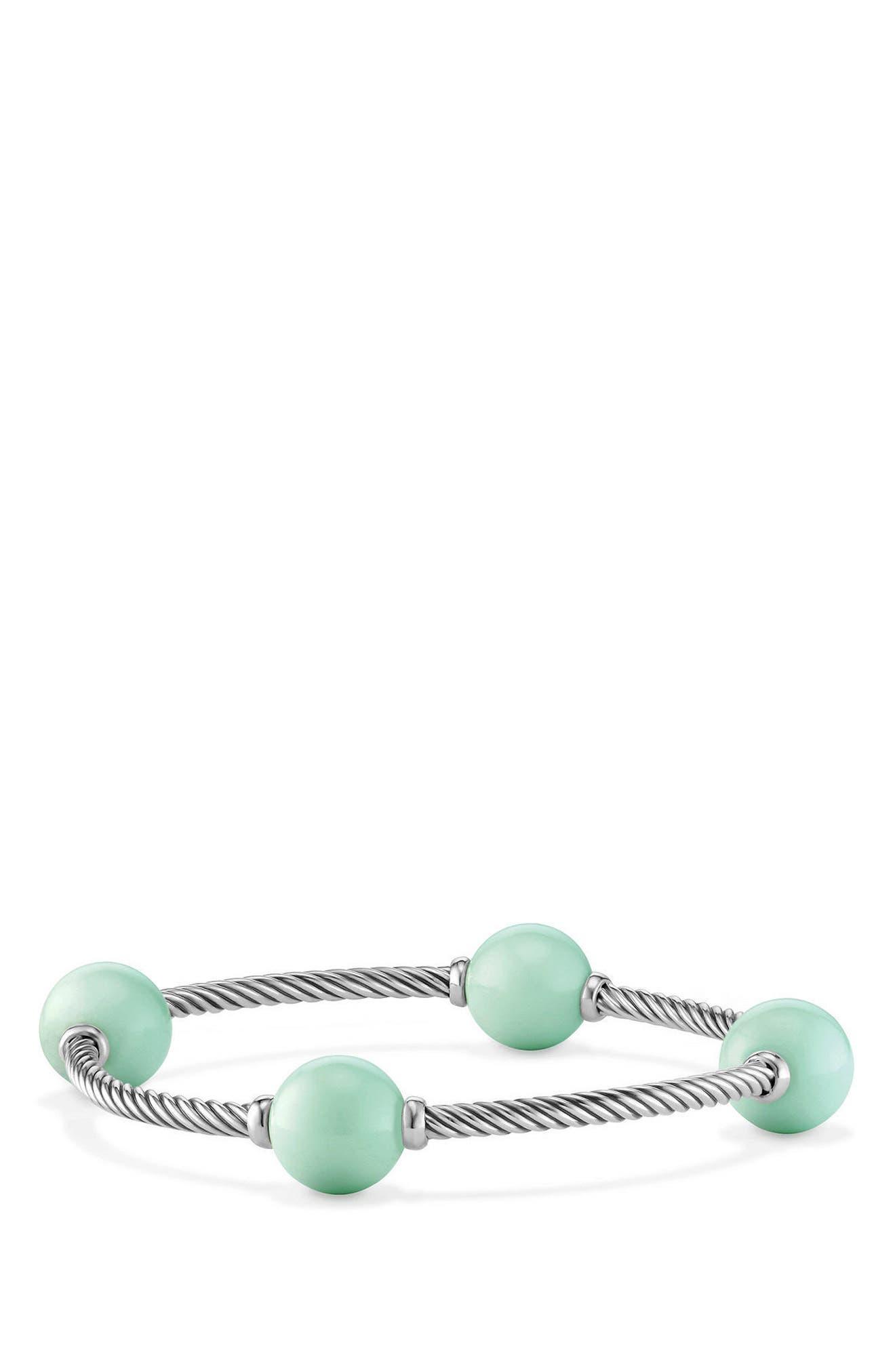 Mustique Four-Station Bangle Bracelet,                         Main,                         color, SILVER