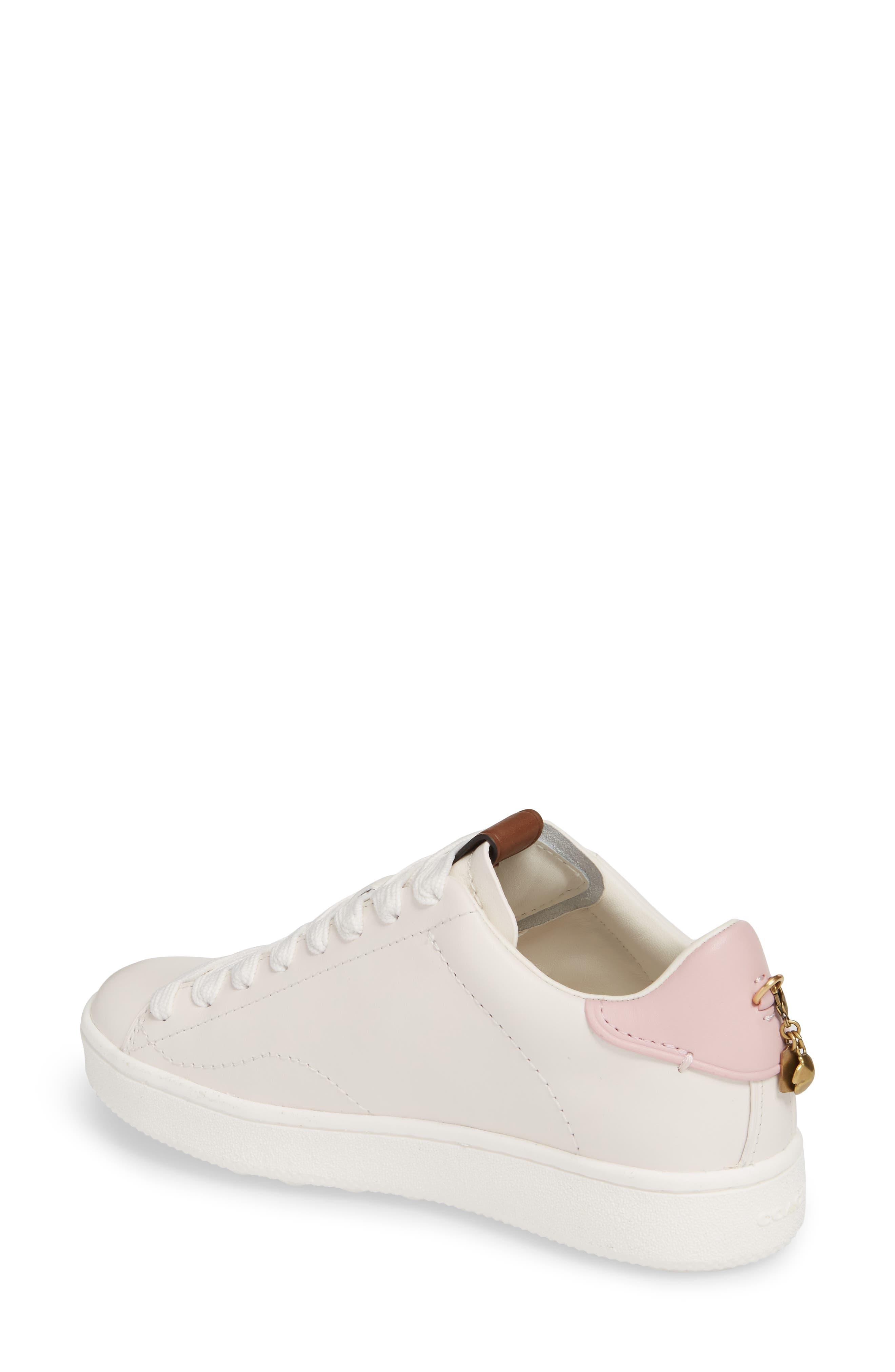 Sneaker,                             Alternate thumbnail 2, color,                             WHITE/ PETAL LEATHER