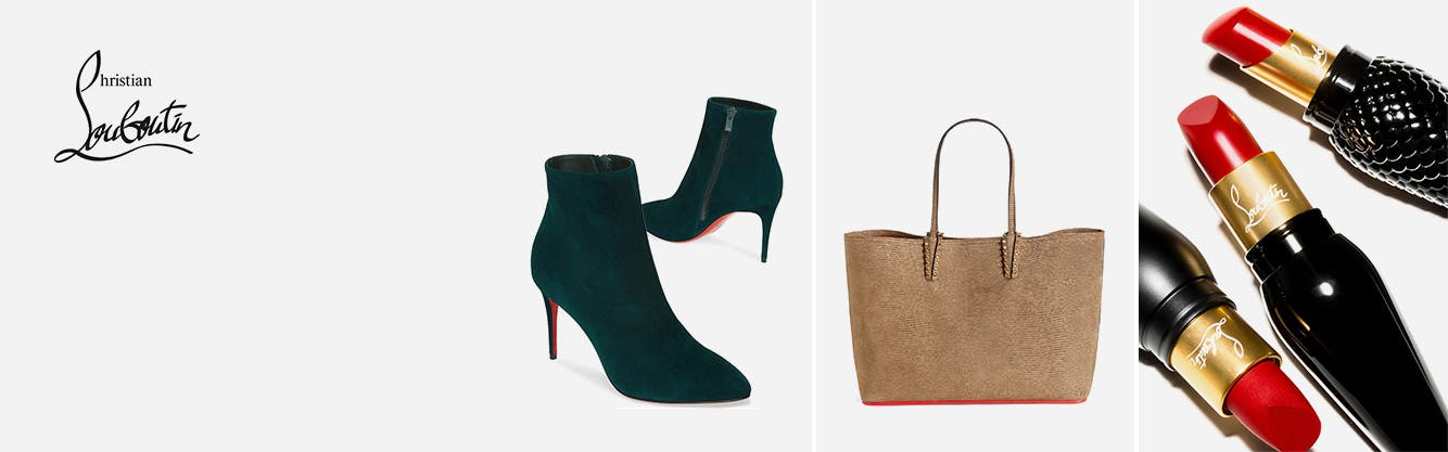 Christian Louboutin shoes, handbags and cosmetics
