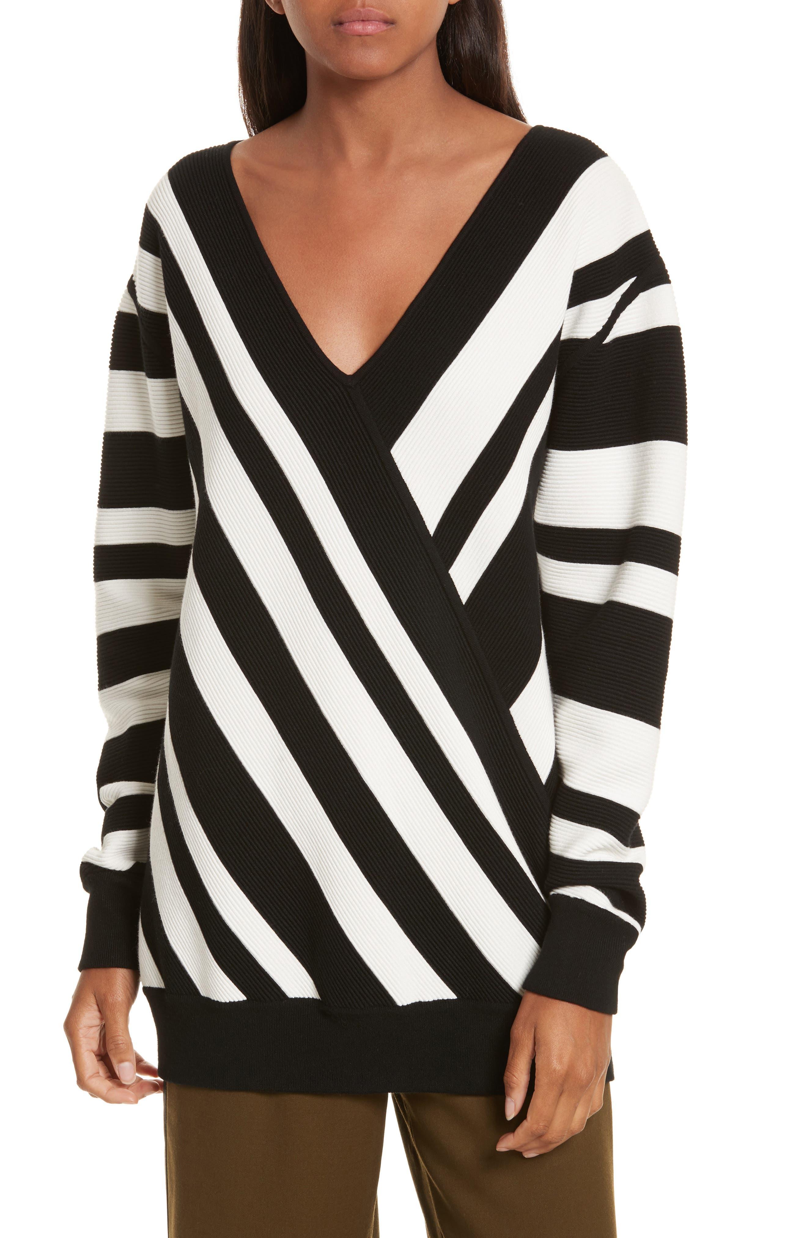 Stripe Knit Sweater,                             Main thumbnail 1, color,                             005