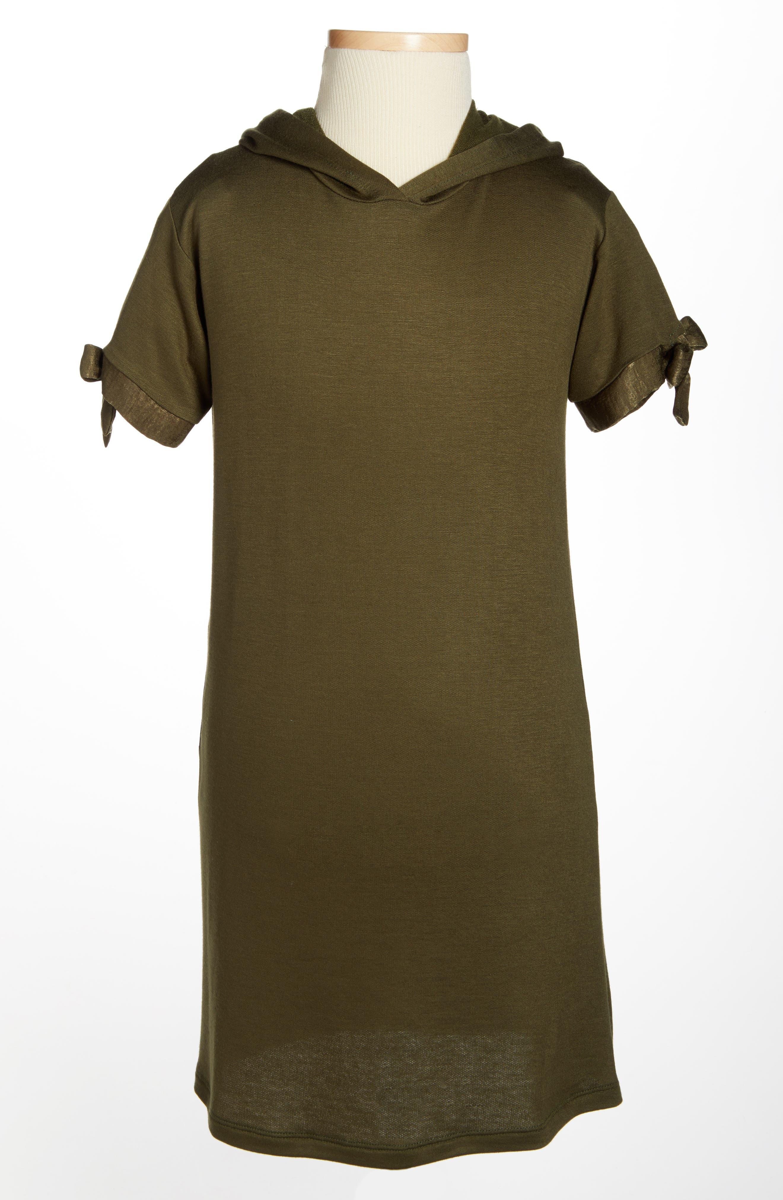 Hooded Shift Dress,                             Alternate thumbnail 3, color,                             302