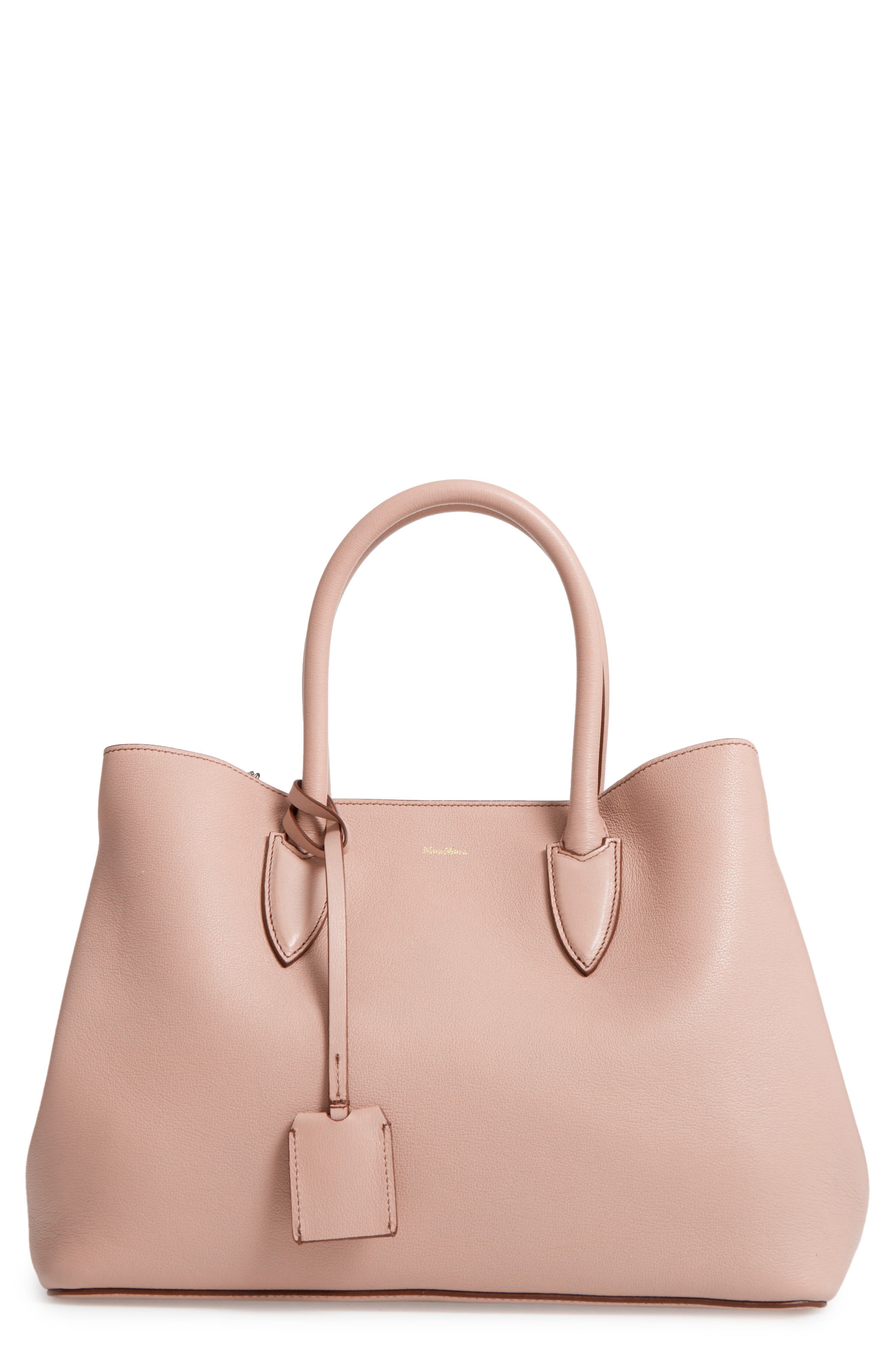 Shiny Leather Tote,                         Main,                         color, 910