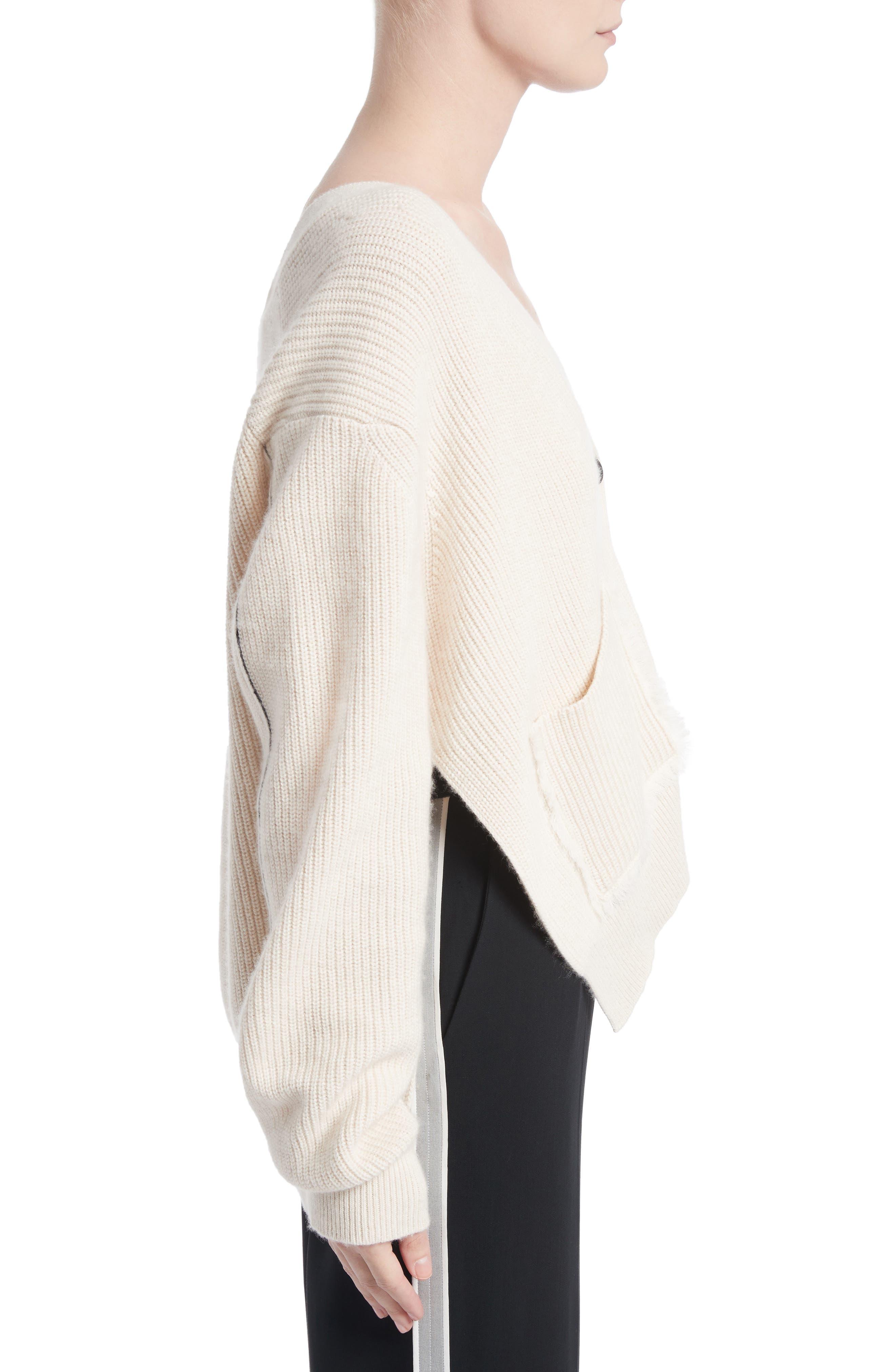 Cotton & Cashmere Cardigan,                             Alternate thumbnail 3, color,