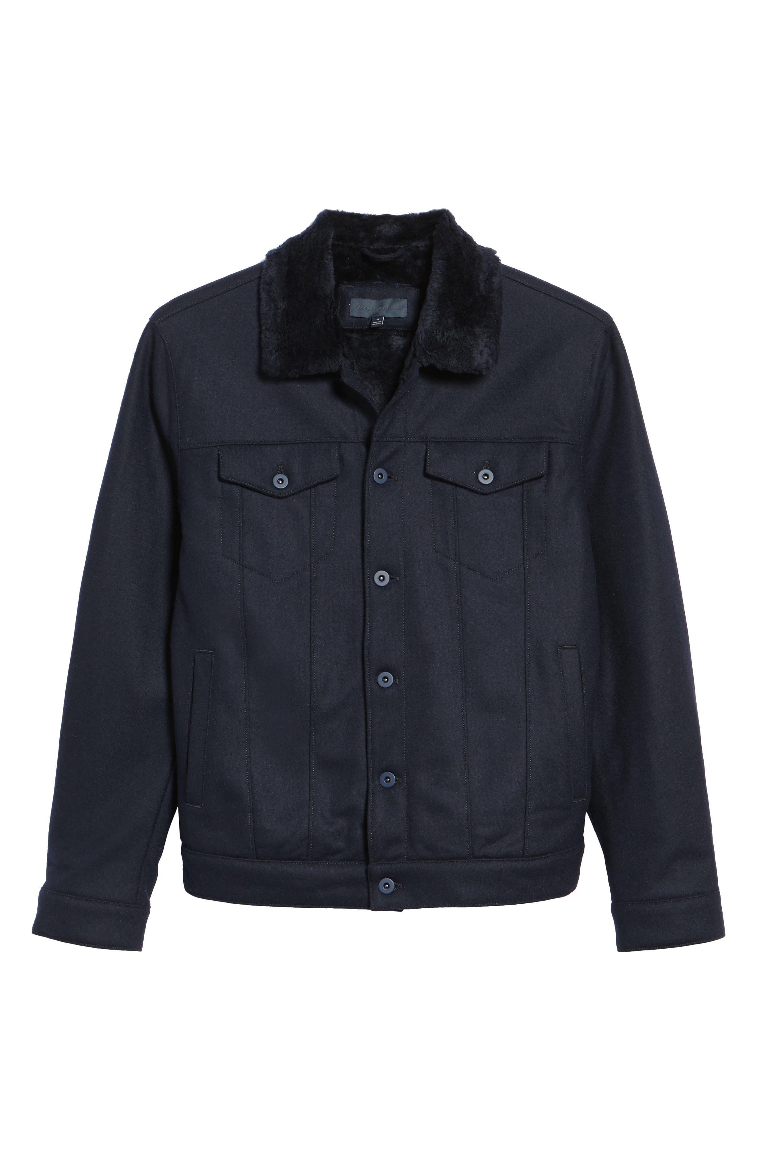 Faux Fur Trim Jacket,                             Alternate thumbnail 5, color,                             410