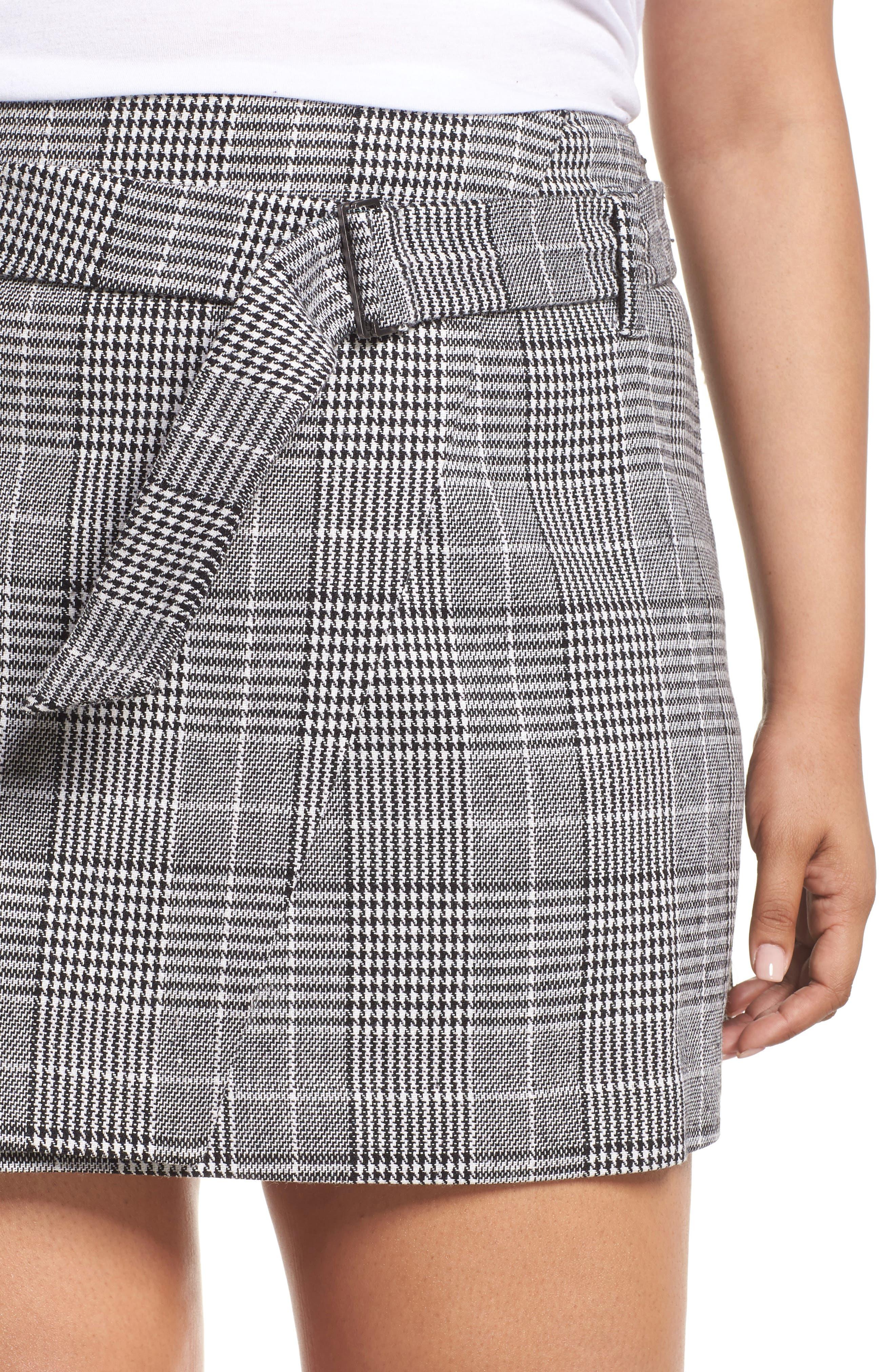 Plaid Miniskirt,                             Alternate thumbnail 10, color,                             BLACK SHAROL PLAID