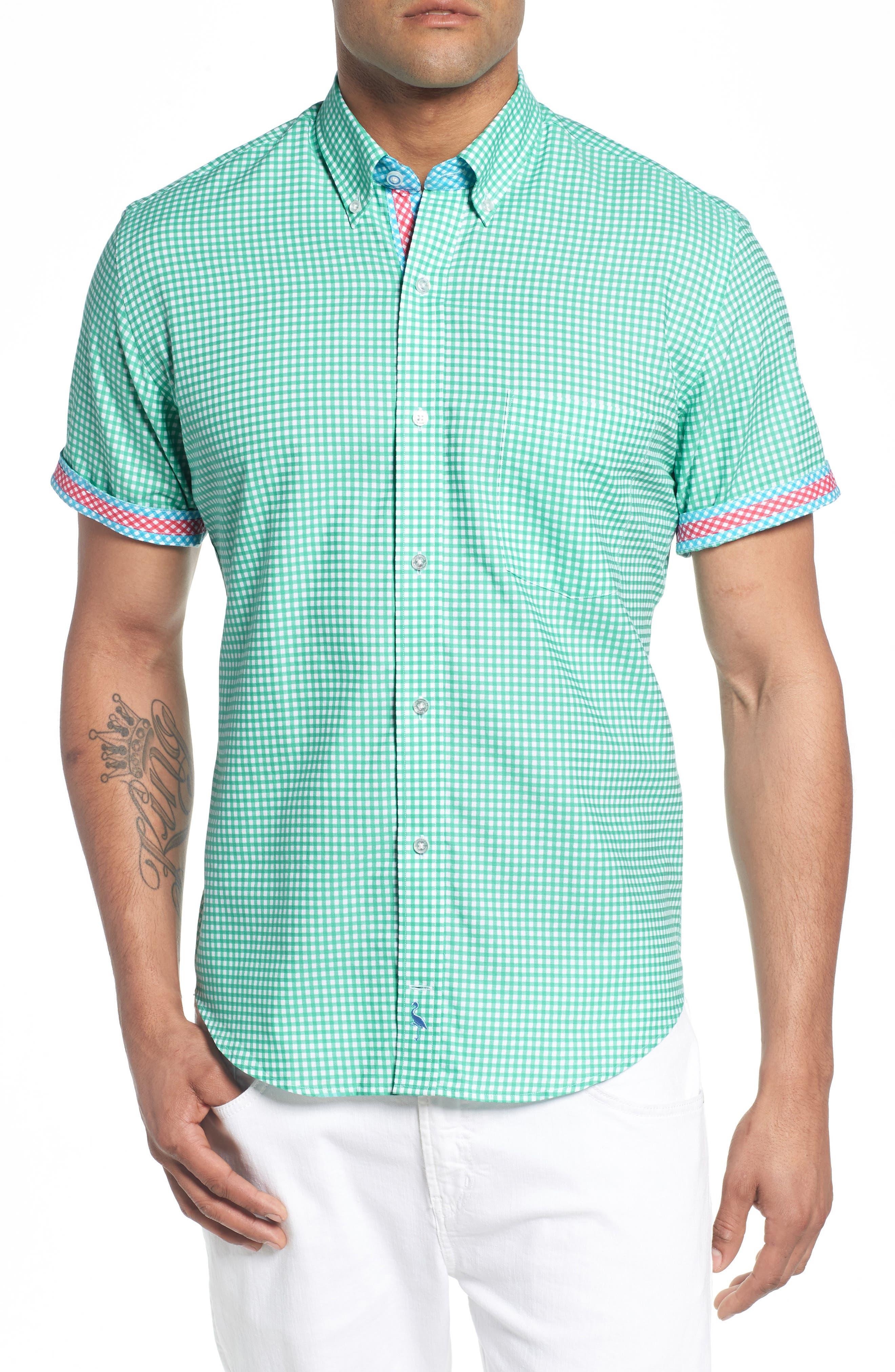 Arlo Regular Fit Check Sport Shirt,                             Alternate thumbnail 4, color,                             300