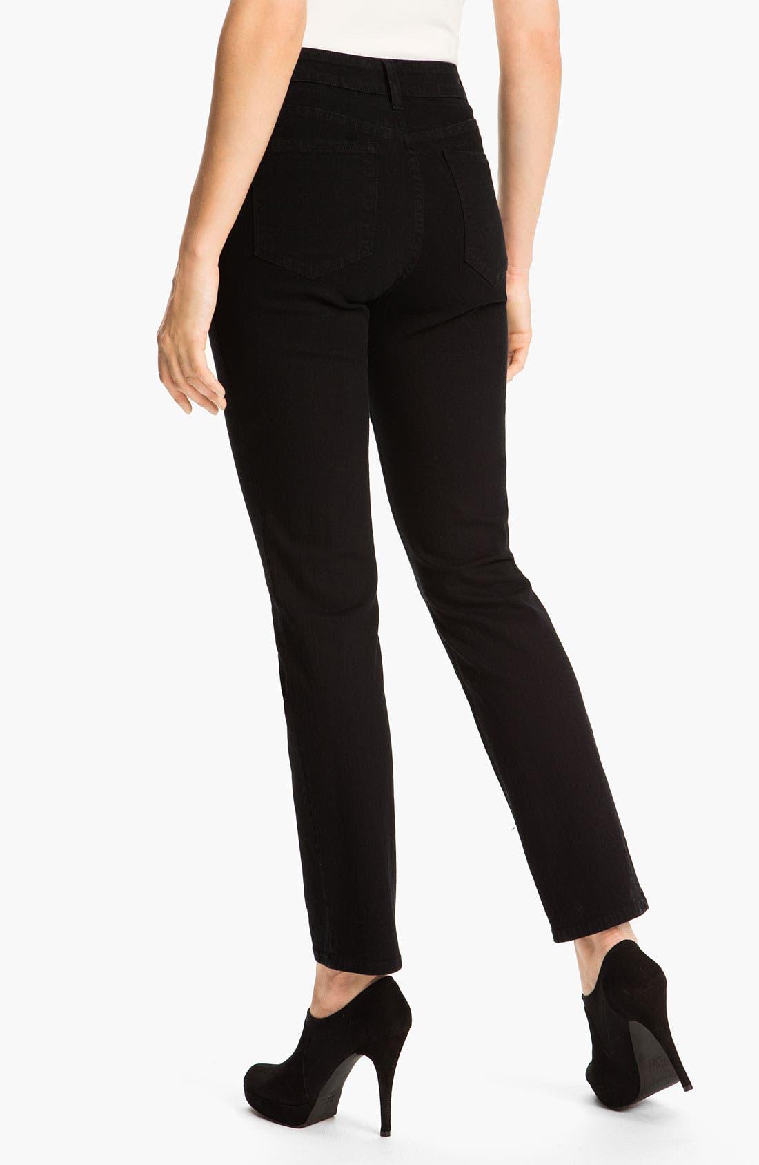 'Sheri' Stretch Skinny Jeans,                             Alternate thumbnail 3, color,                             001