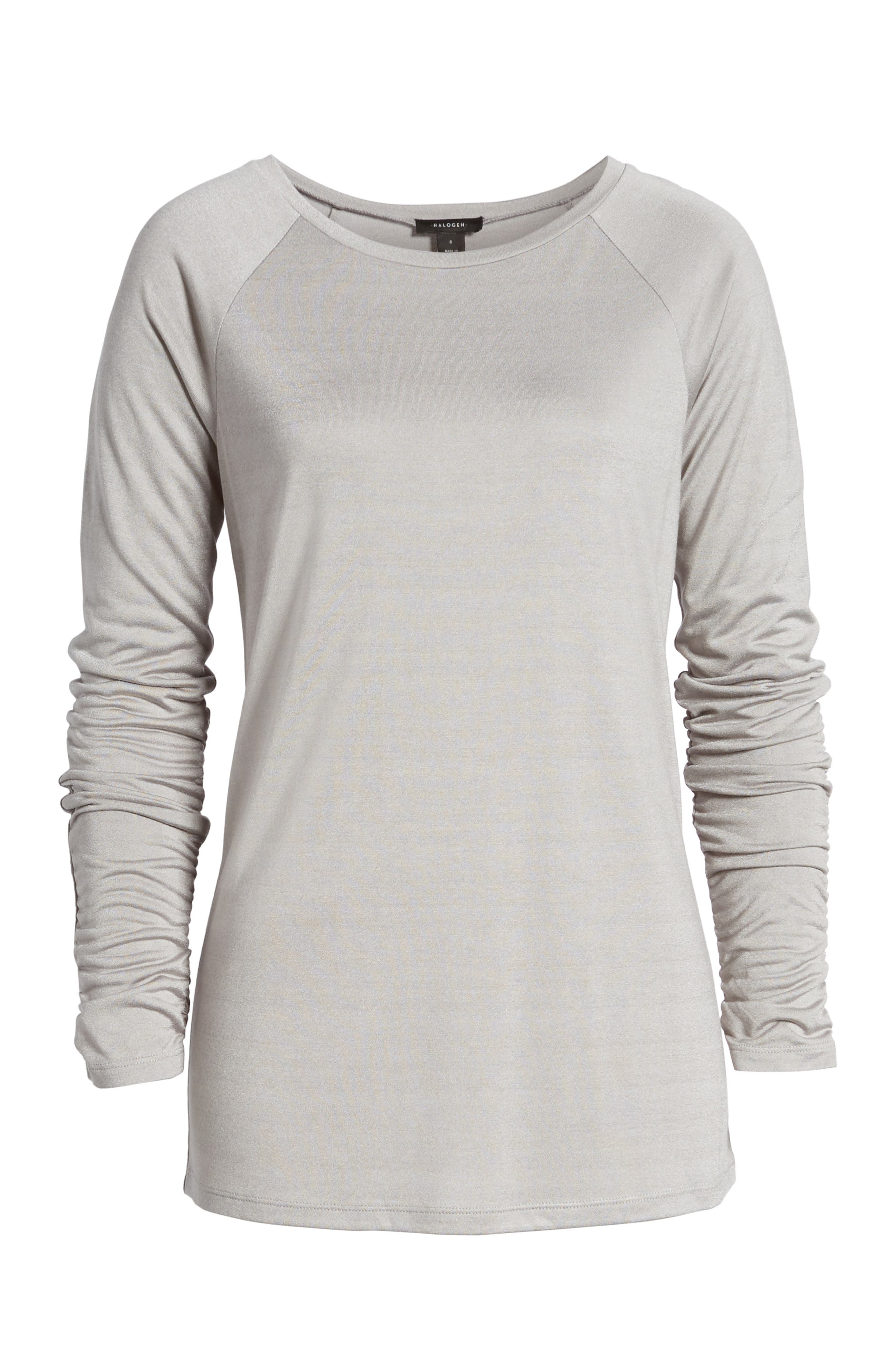 Ruched Sleeve Tee,                             Alternate thumbnail 22, color,