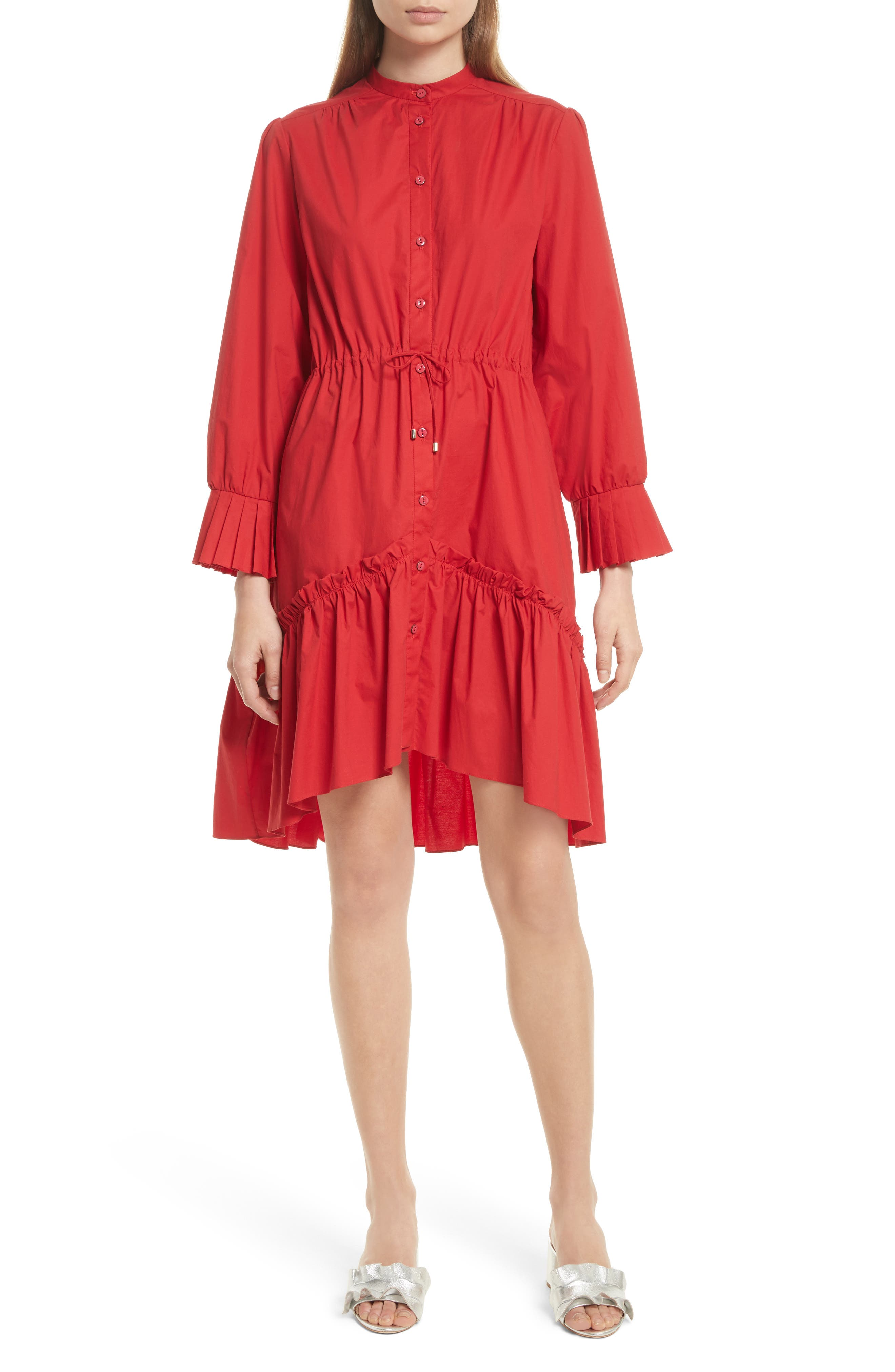 Billie Cotton Dress,                             Main thumbnail 1, color,                             616