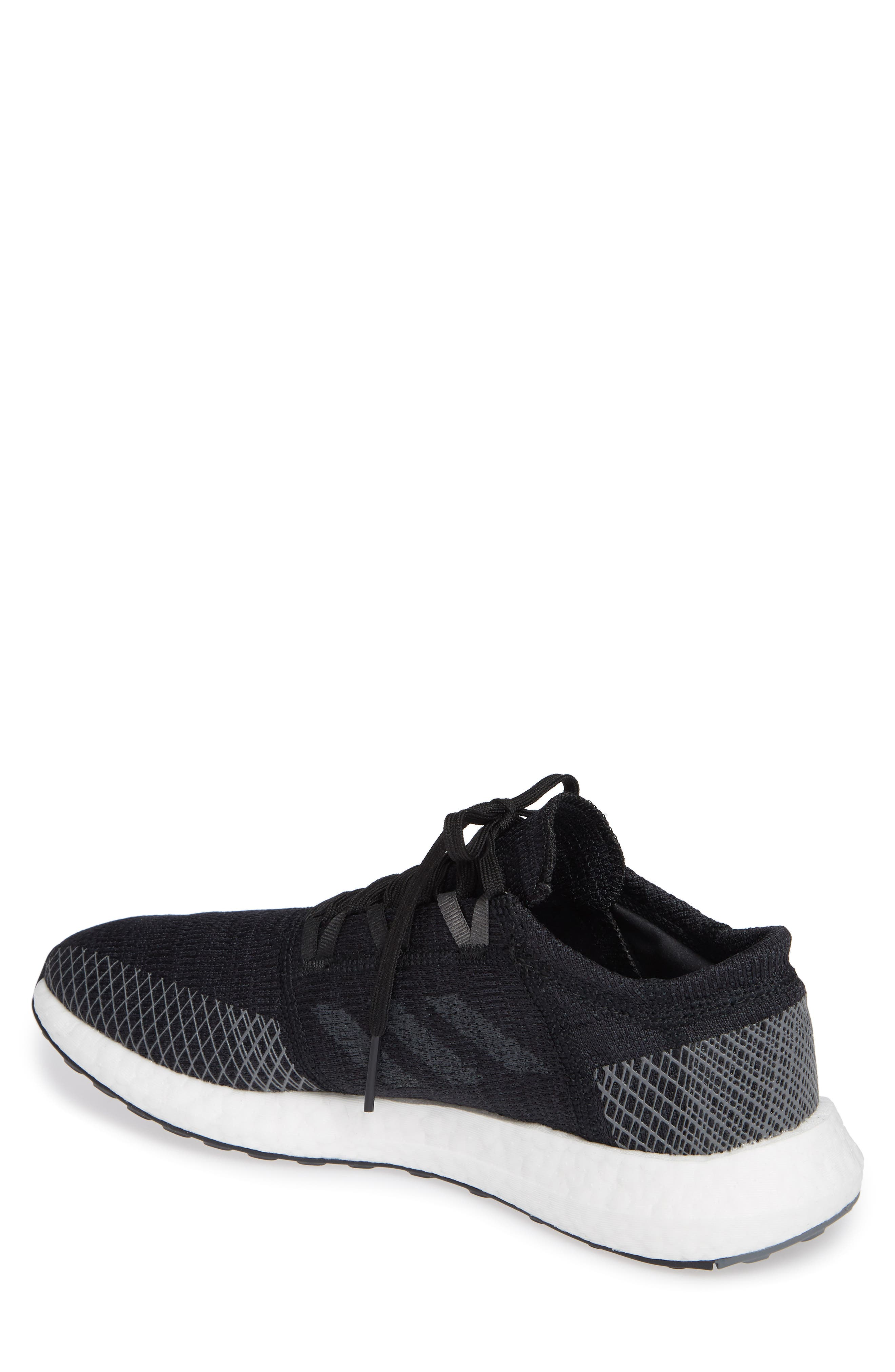 PureBoost GO Running Shoe,                             Alternate thumbnail 2, color,                             BLACK/ GREY