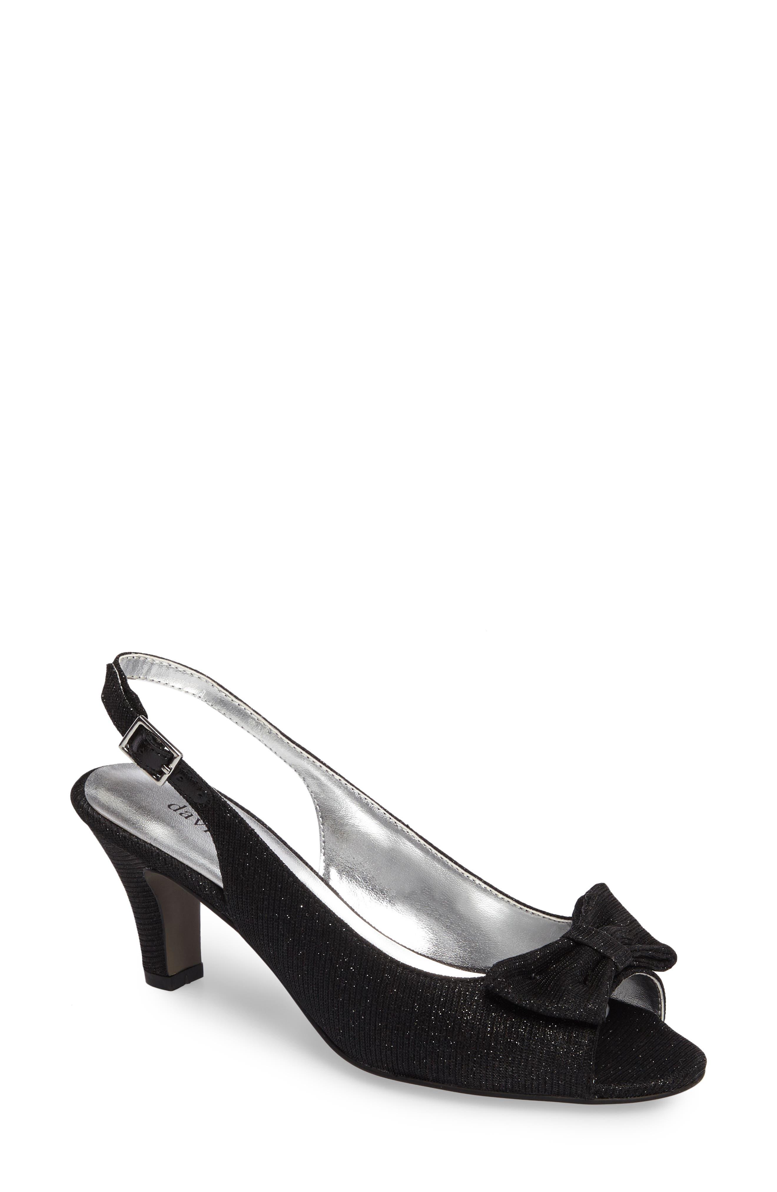 Spirit Slingback Sandal,                         Main,                         color, BLACK FABRIC
