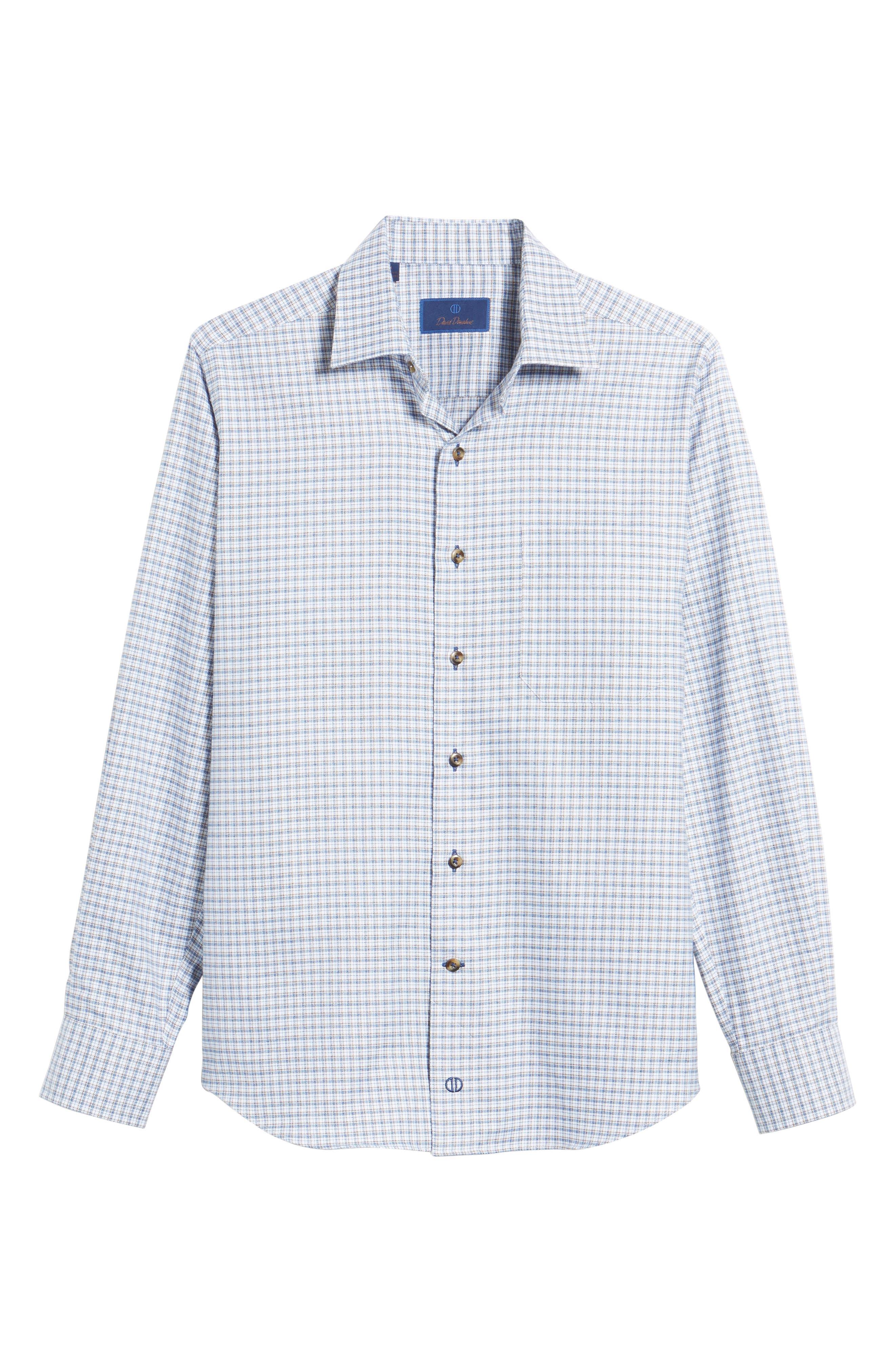 Regular Fit Plaid Sport Shirt,                             Alternate thumbnail 6, color,                             423