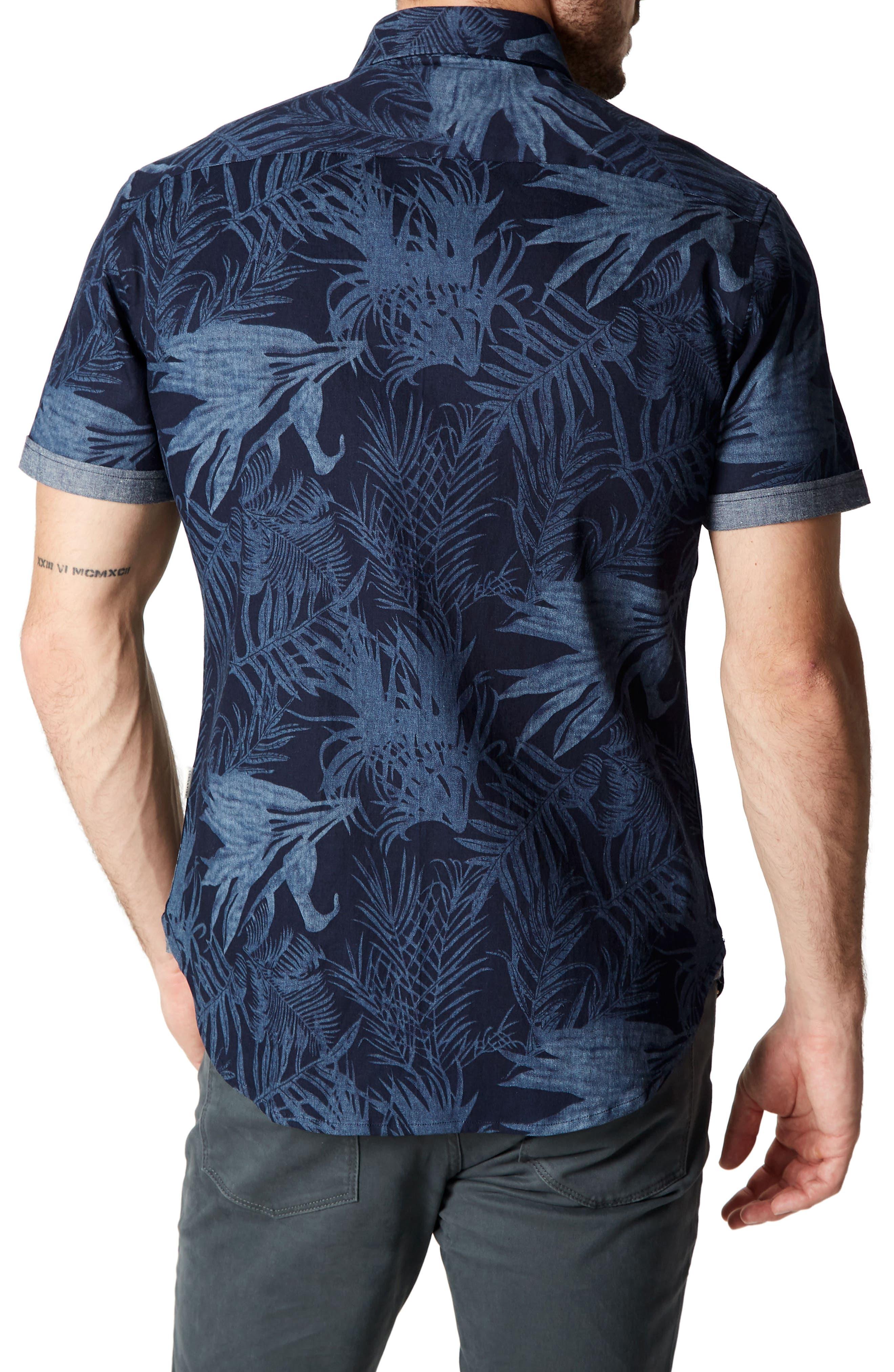 Feeling Good Woven Shirt,                             Alternate thumbnail 2, color,                             NAVY