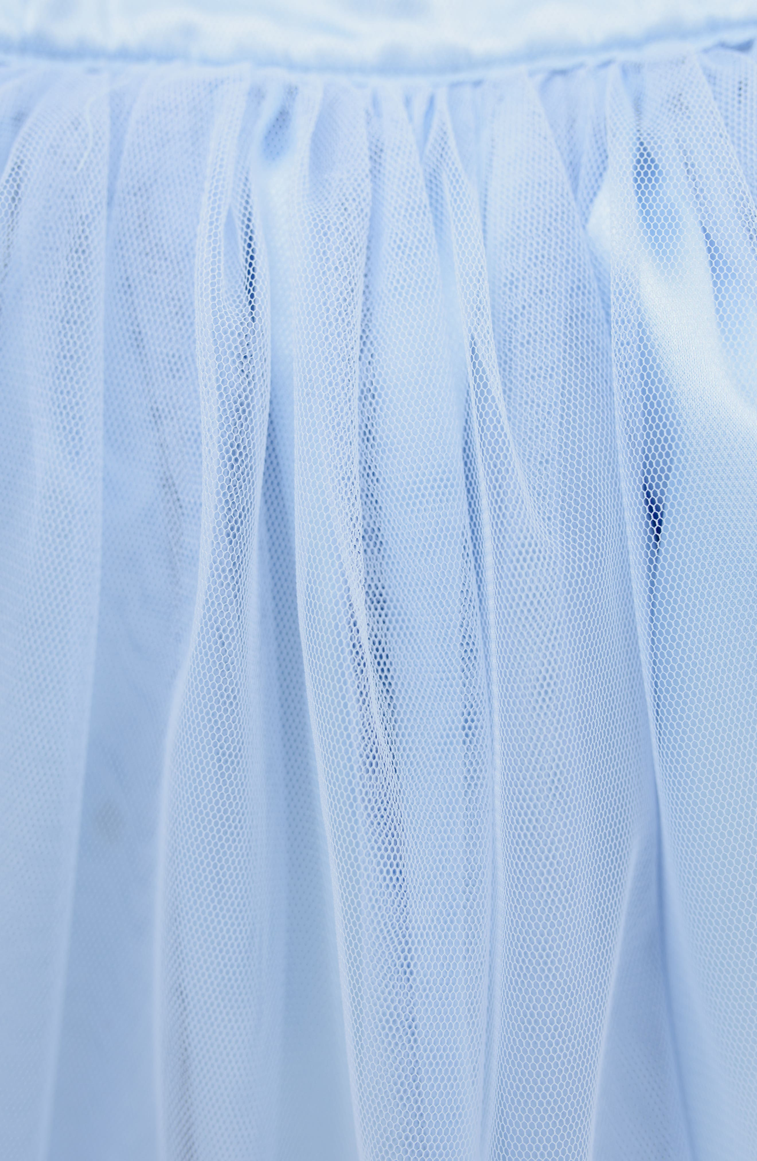 Stella M'Lia Two-Piece Beaded Tulle Dress,                             Alternate thumbnail 6, color,                             PALE BLUE