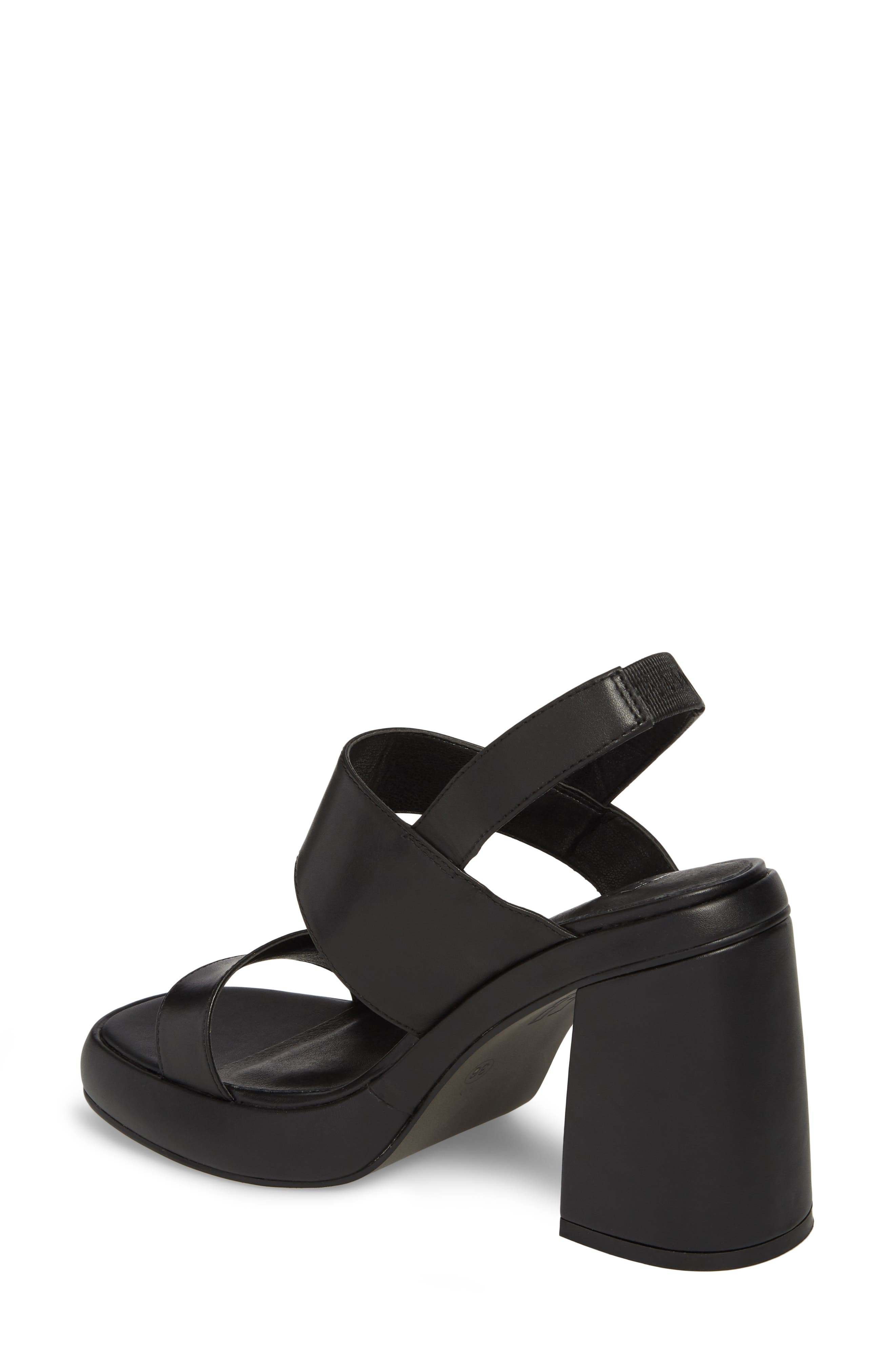 Block Heel Sandal,                             Alternate thumbnail 2, color,                             BLACK LEATHER