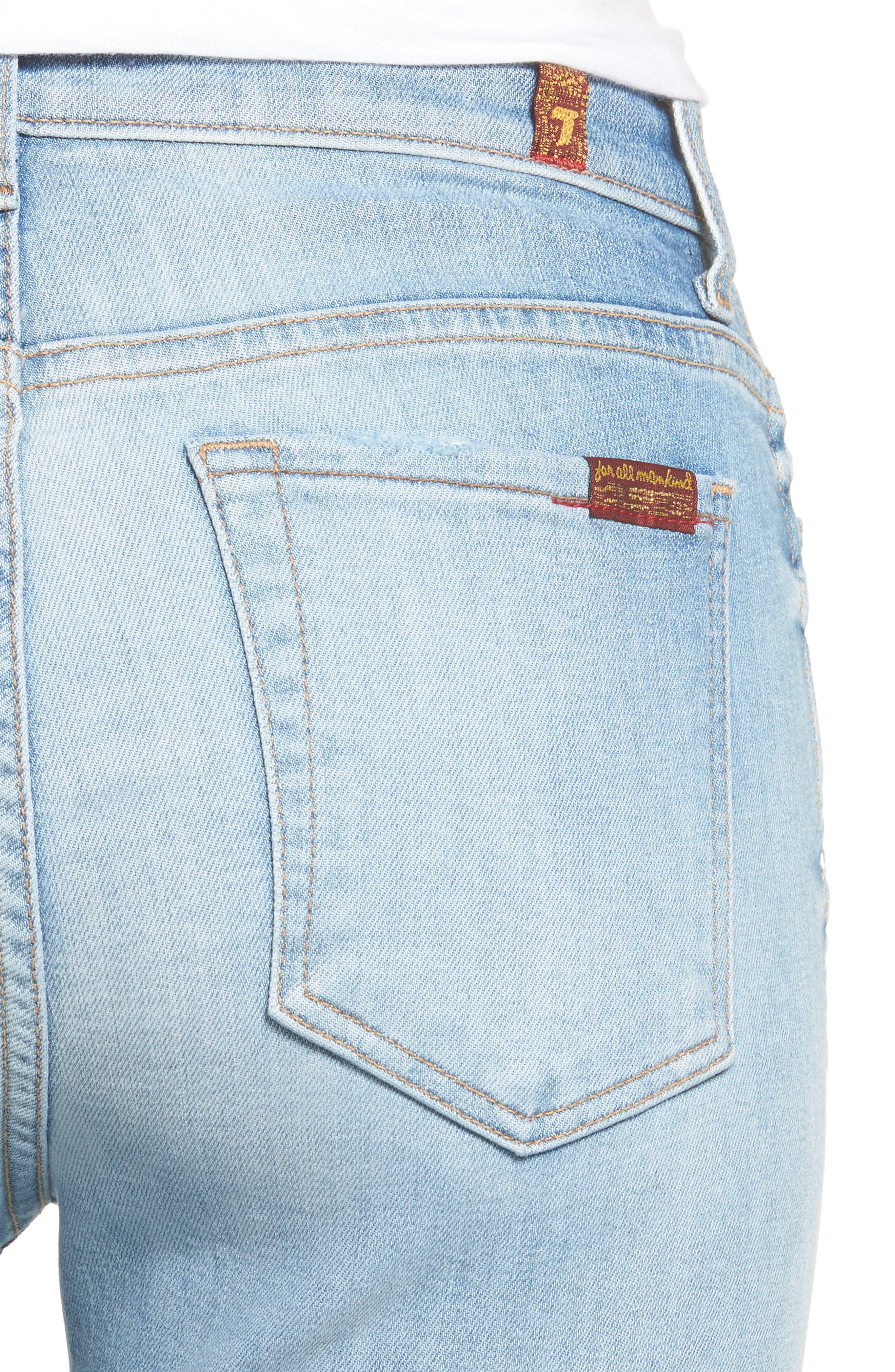 Edie High Waist Crop Jeans,                             Alternate thumbnail 4, color,