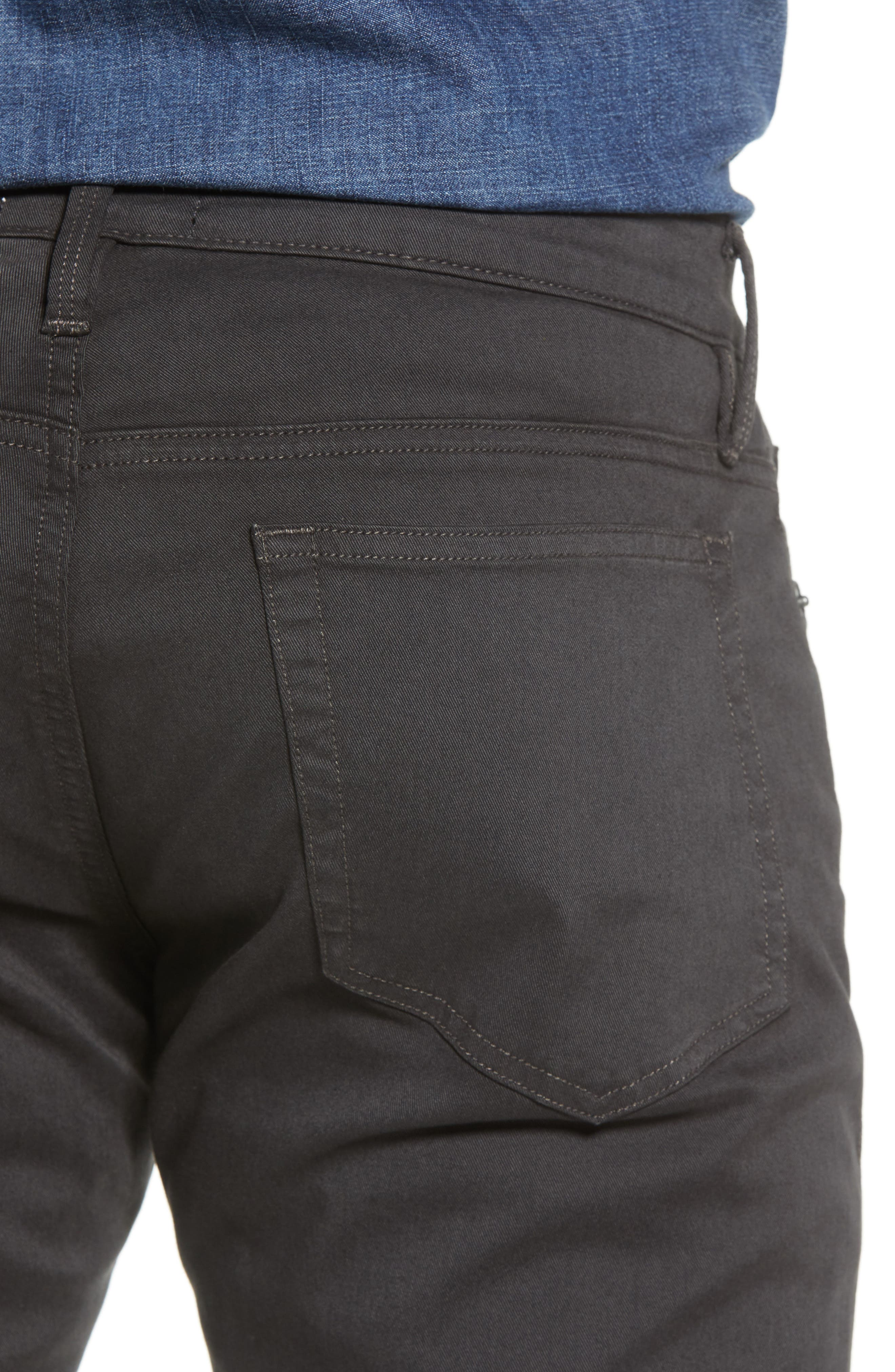 L'Homme Slim Fit Chino Pants,                             Alternate thumbnail 4, color,                             HEMATITE