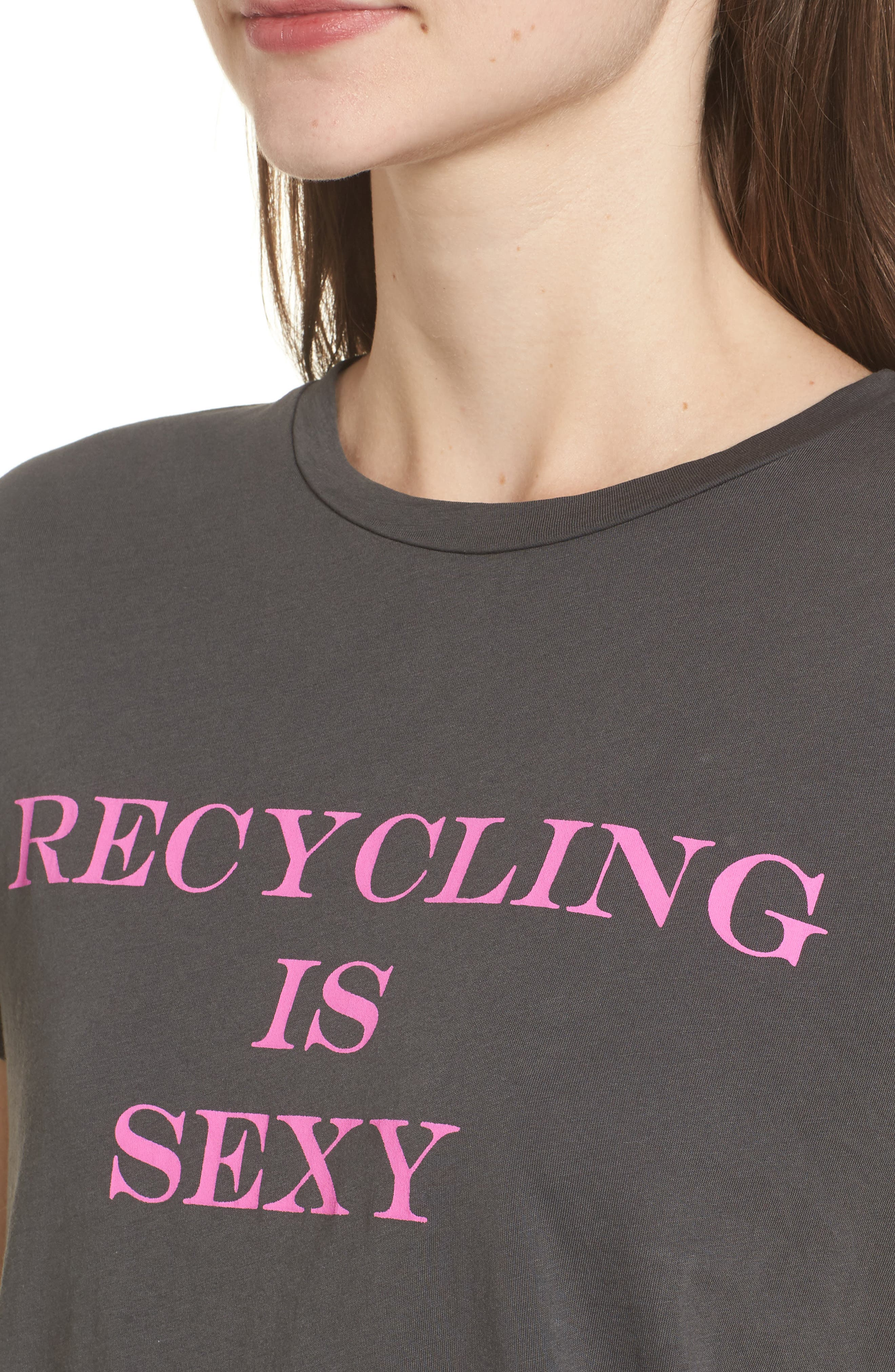 Recycling is Sexy Tee,                             Alternate thumbnail 4, color,                             004