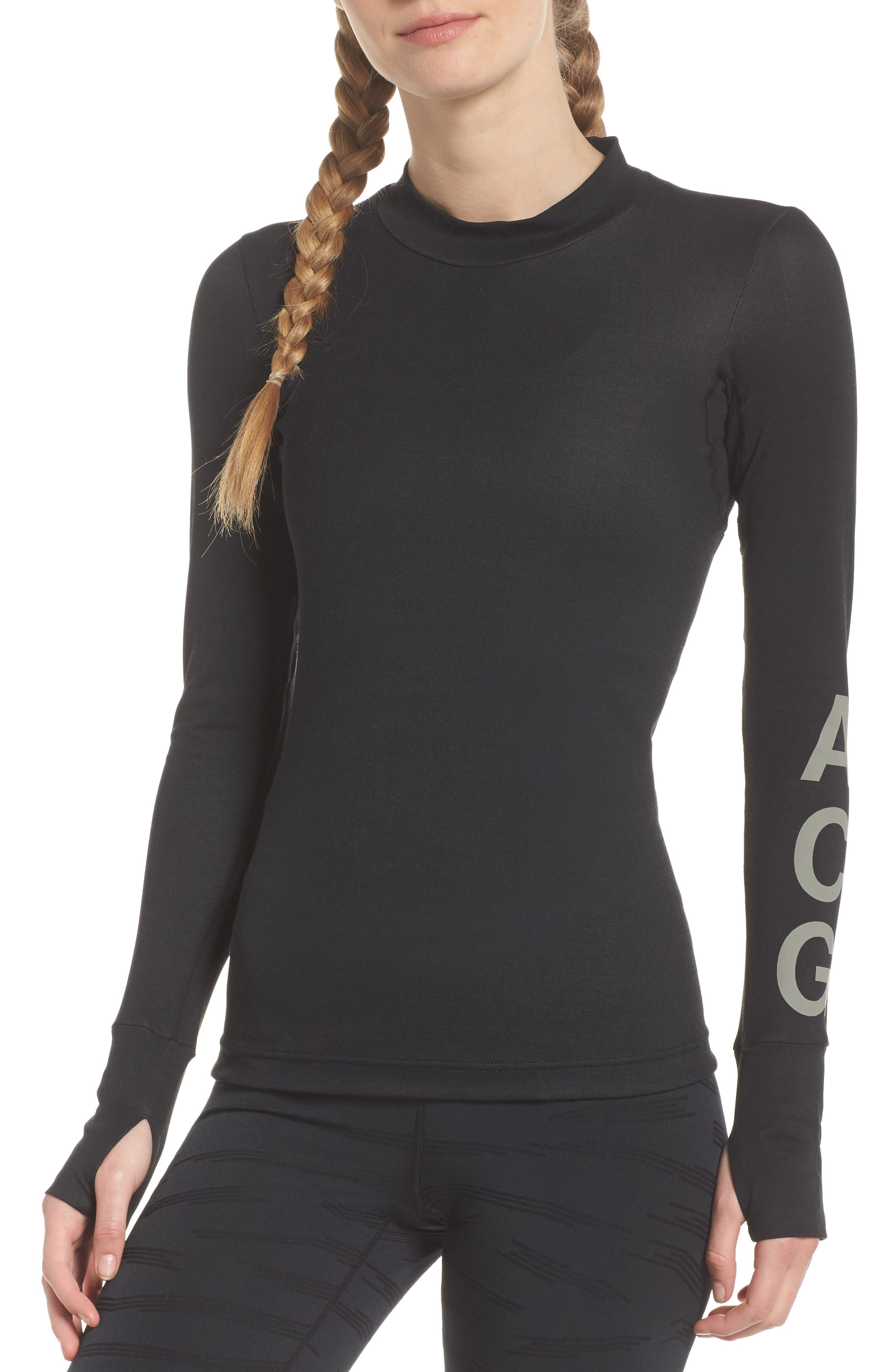 NikeLab ACG Long Sleeve Women's Top,                             Main thumbnail 1, color,                             010
