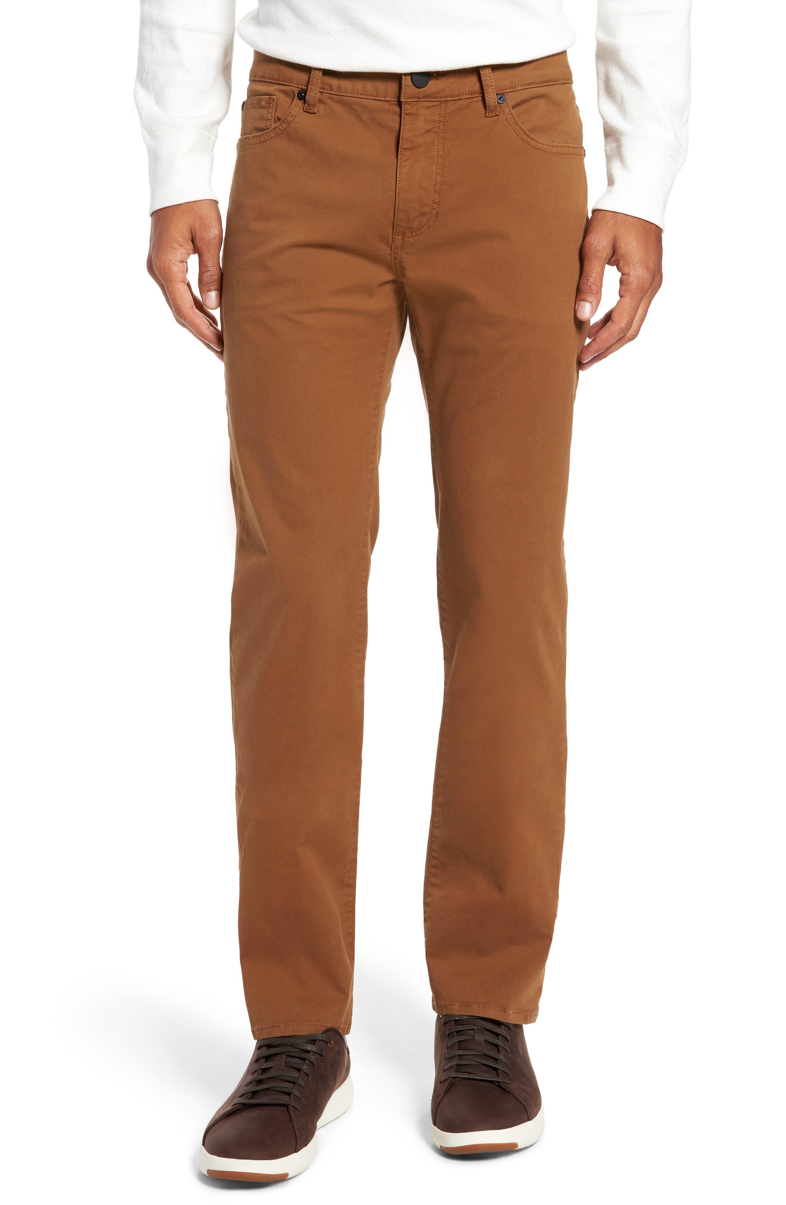 Nick Slim Fit Flat Front Pants,                         Main,                         color, SIENNA