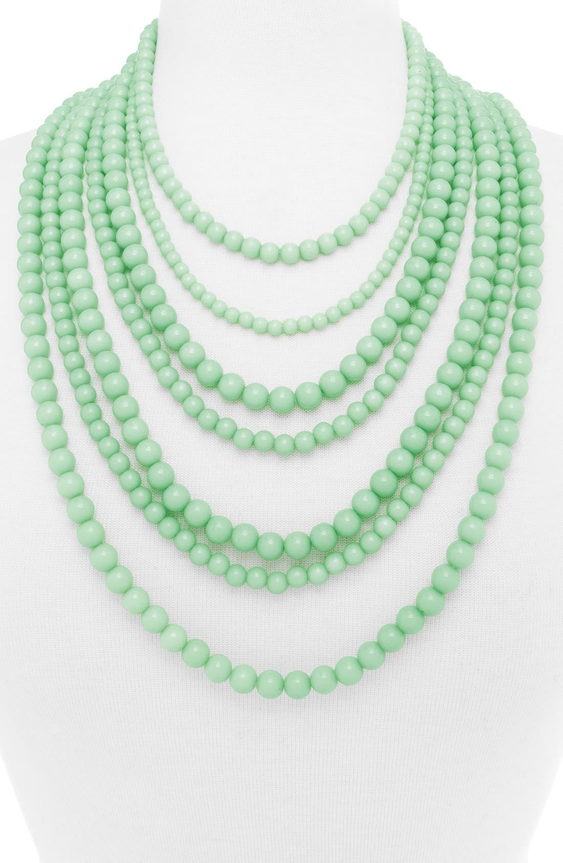 'Bold' Multistrand Beaded Statement Necklace,                             Alternate thumbnail 15, color,
