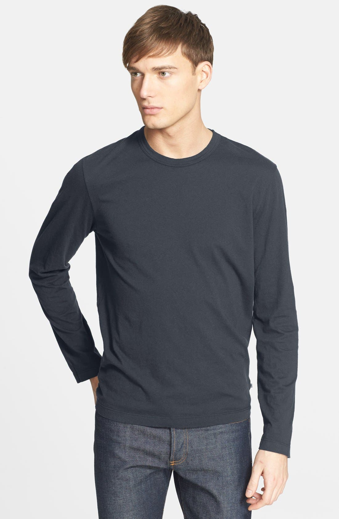 Long Sleeve Crewneck T-Shirt,                             Main thumbnail 10, color,