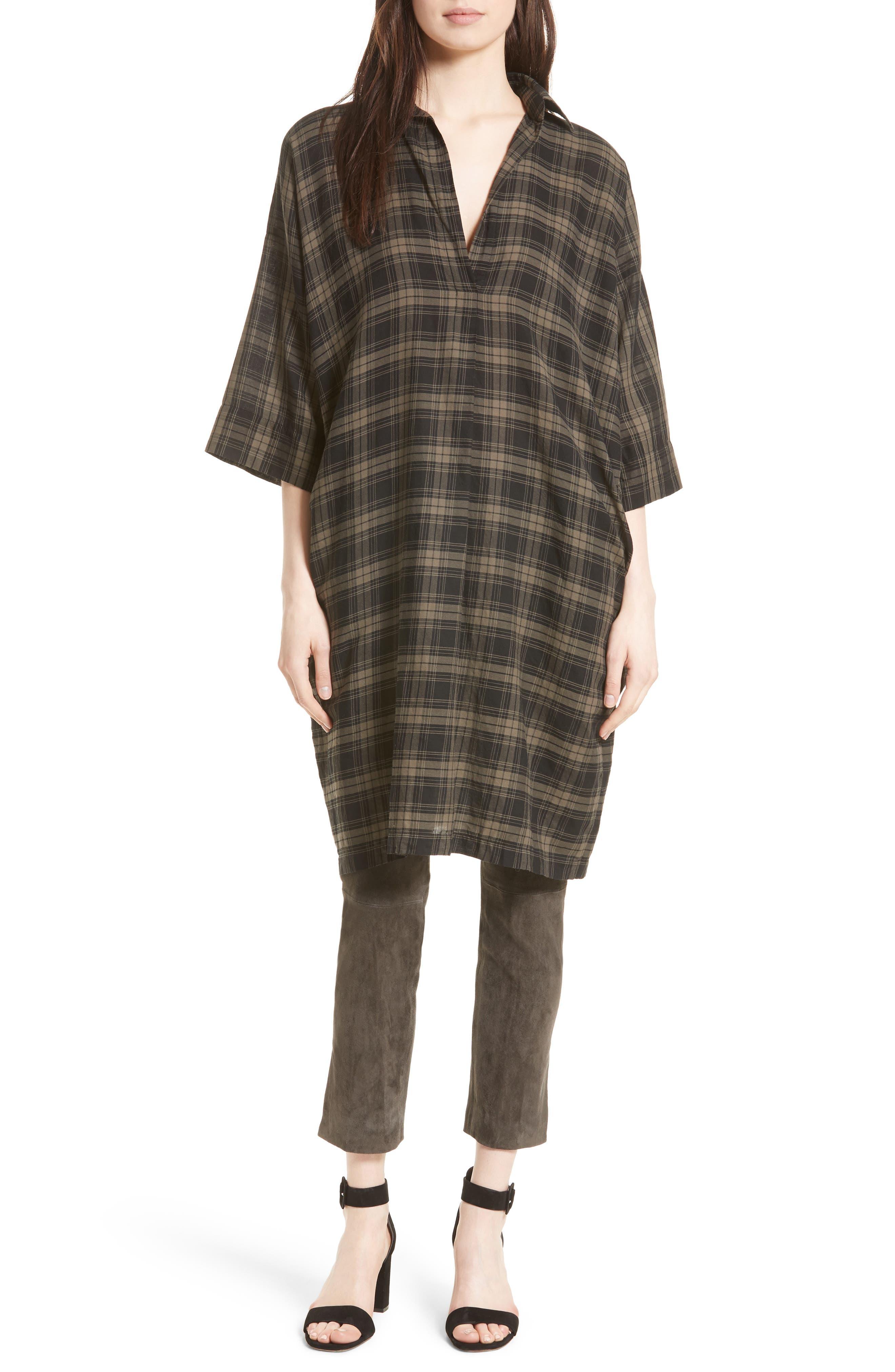 Plaid Shirtdress,                         Main,                         color, 312