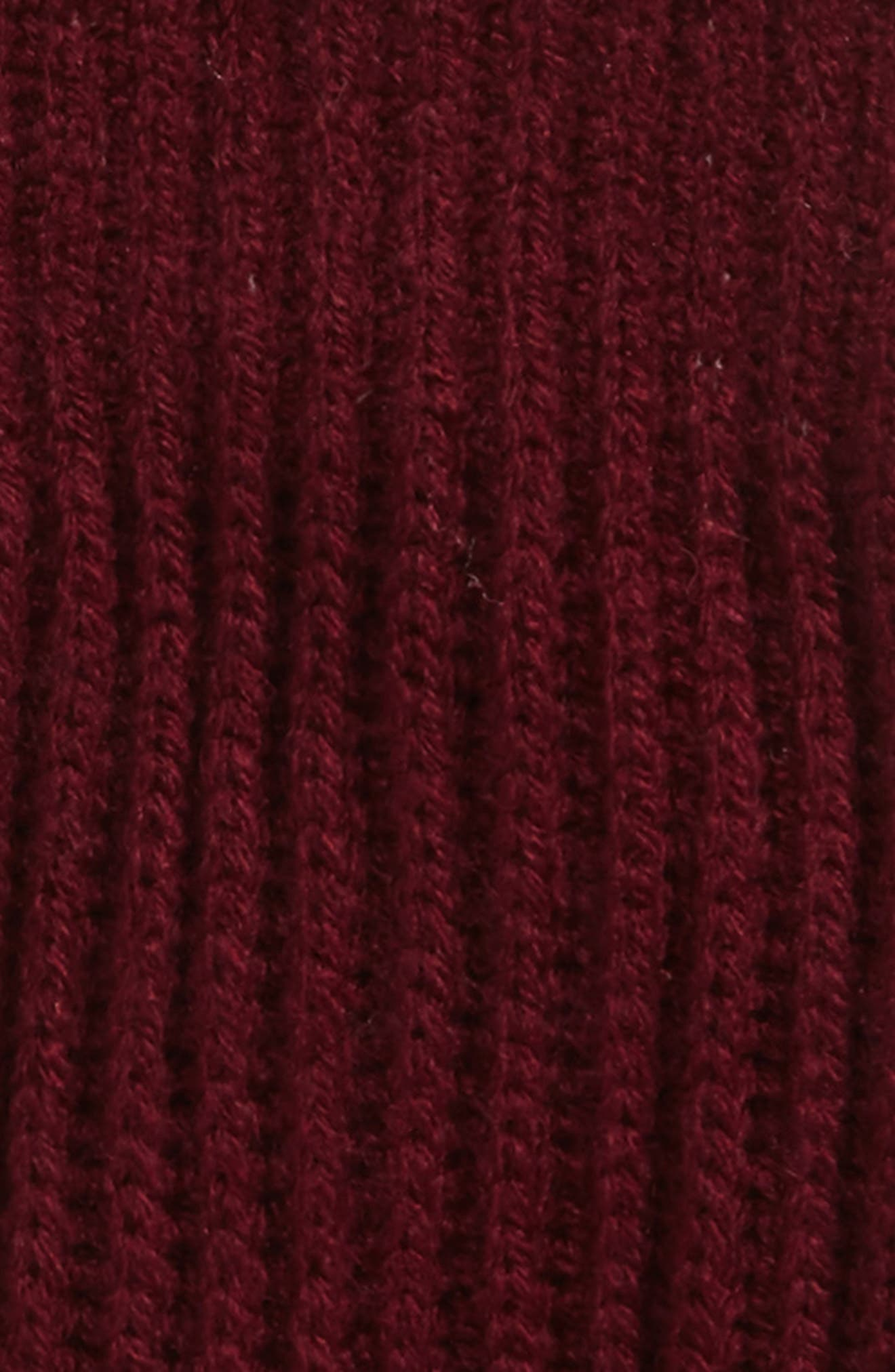 grosgrain bow convertible knit mittens,                             Alternate thumbnail 2, color,                             MIDNIGHT WINE