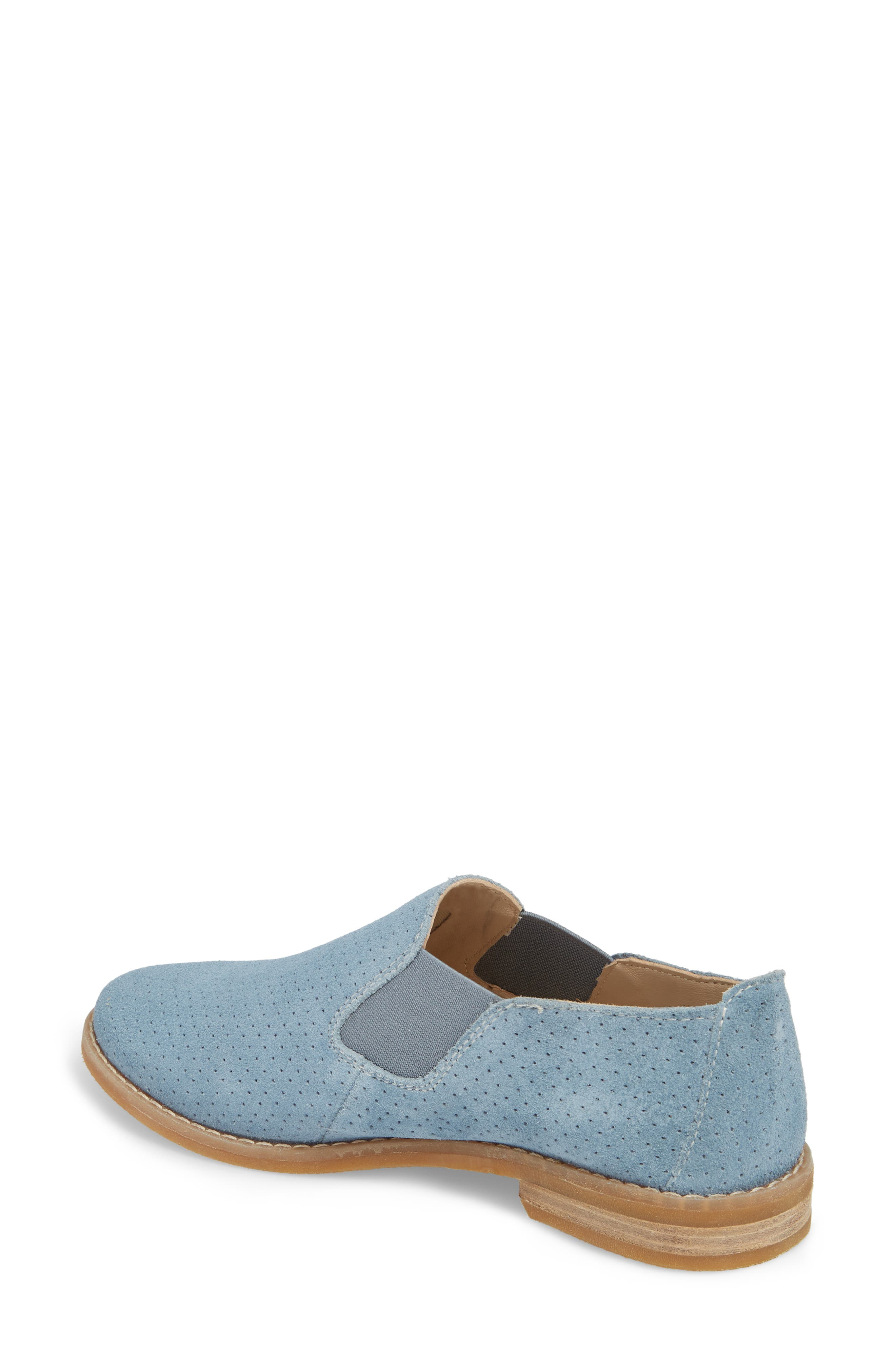 Hush Puppies Analise Clever Slip-On,                             Alternate thumbnail 2, color,                             VINTAGE INDIGO SUEDE