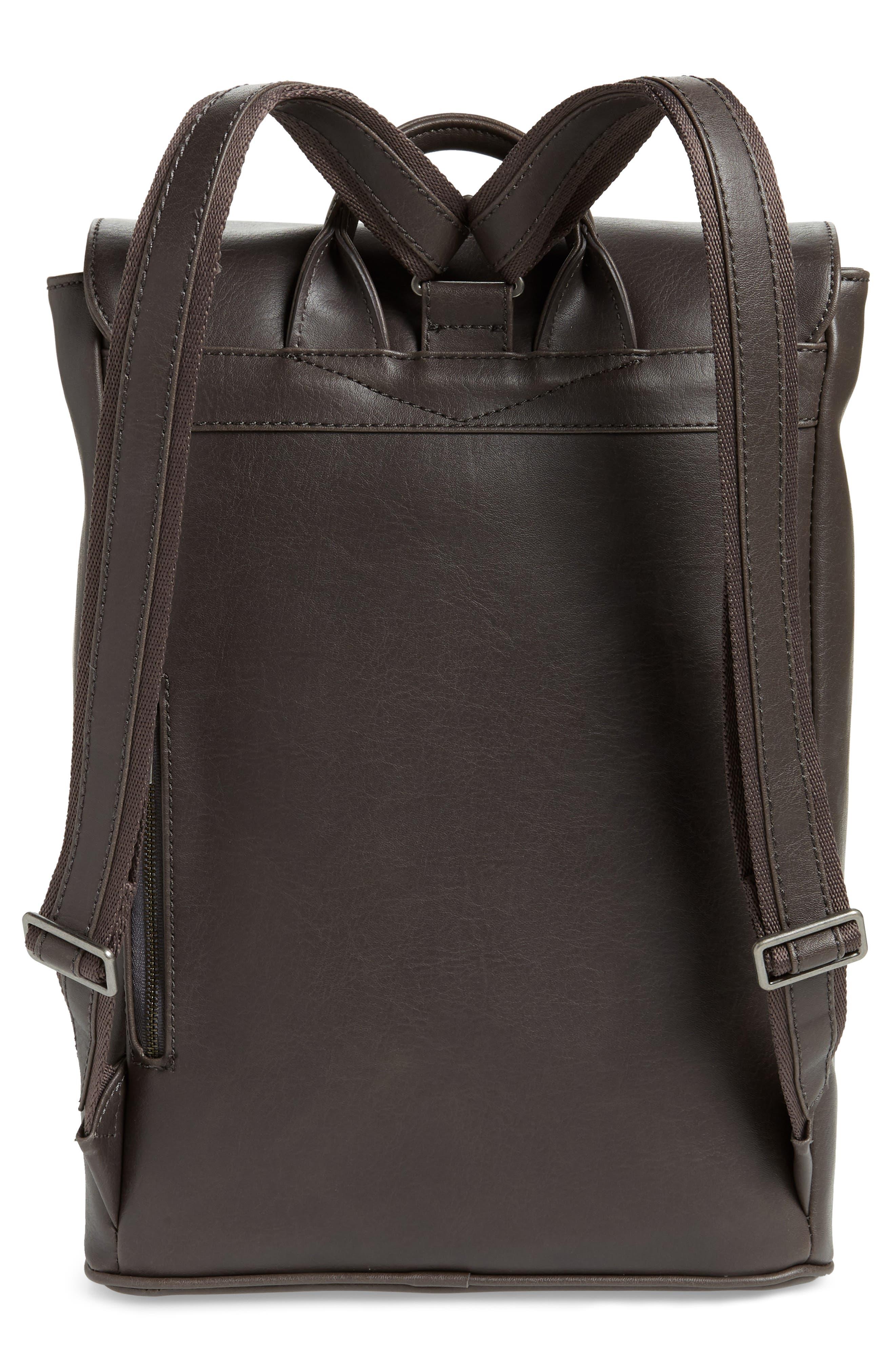MATT & NAT,                             'Fabi' Faux Leather Laptop Backpack,                             Alternate thumbnail 3, color,                             NO_COLOR