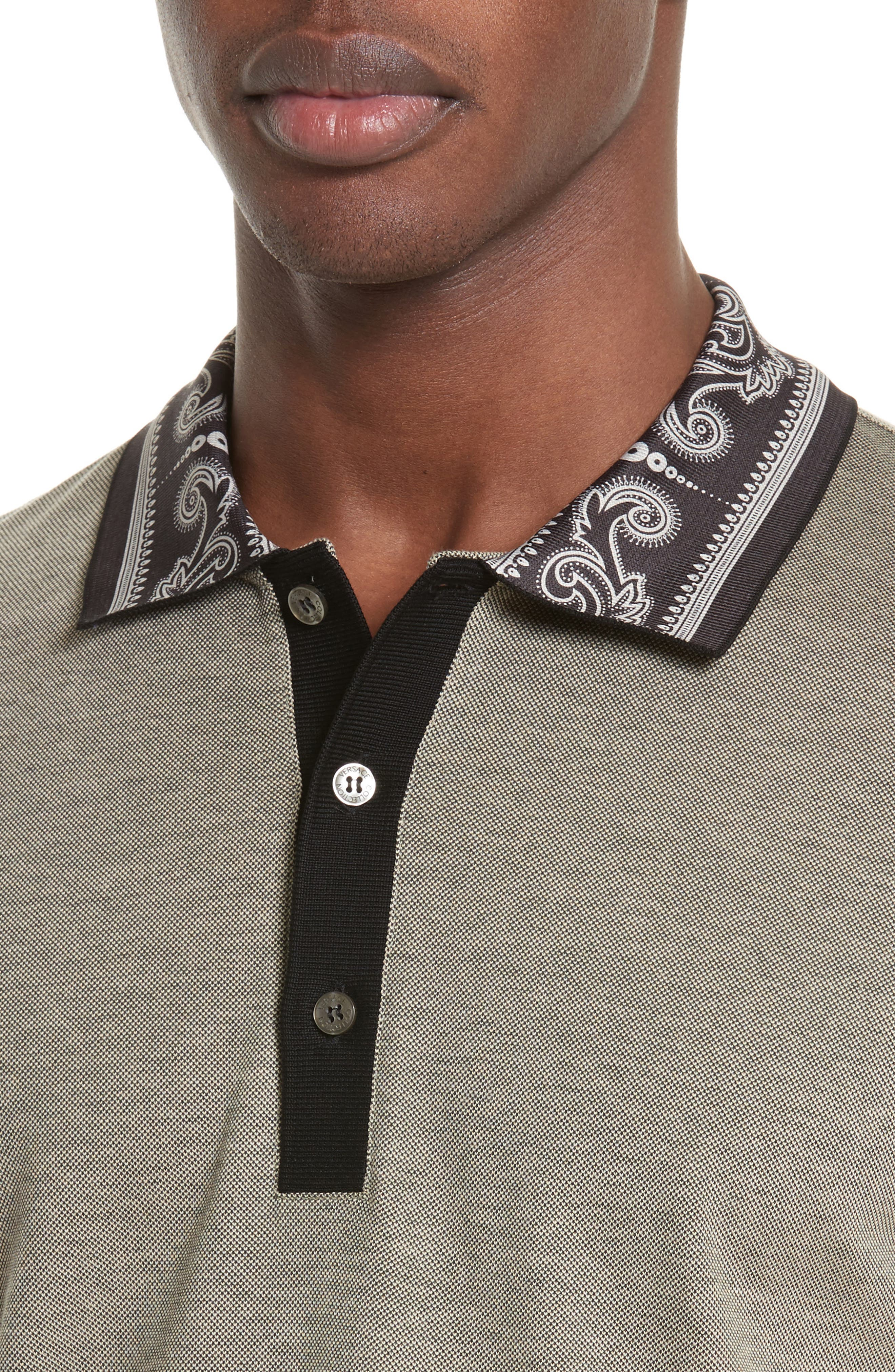 Filigree Collar Polo,                             Alternate thumbnail 4, color,                             250