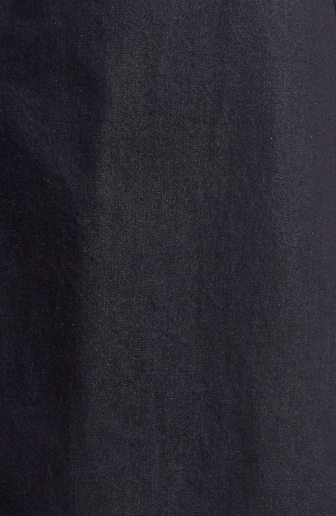 Retro Denim Skirt,                             Alternate thumbnail 4, color,                             410