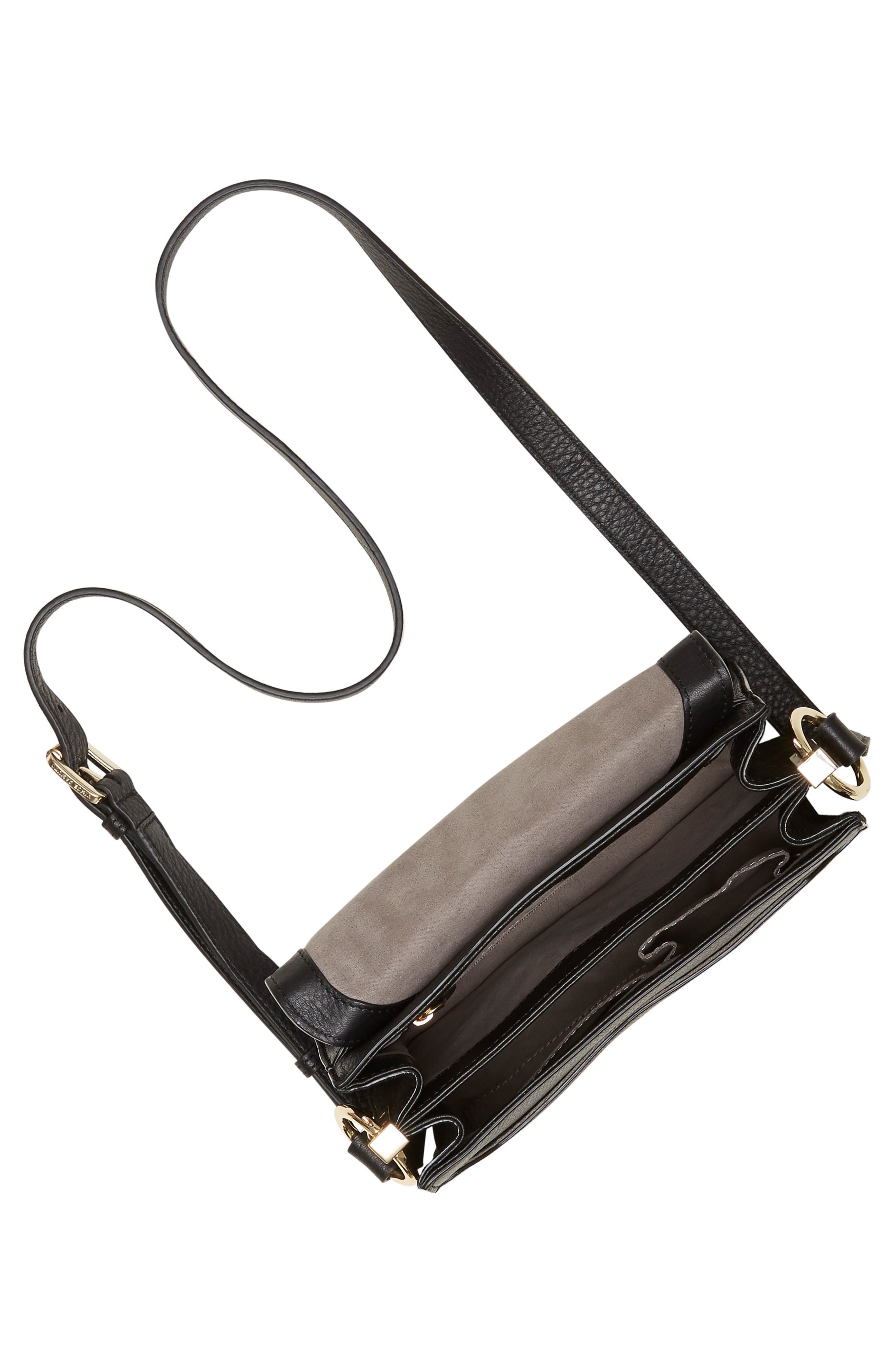 Kirisi Leather & Genuine Calf Hair Crossbody Bag,                             Alternate thumbnail 4, color,                             204