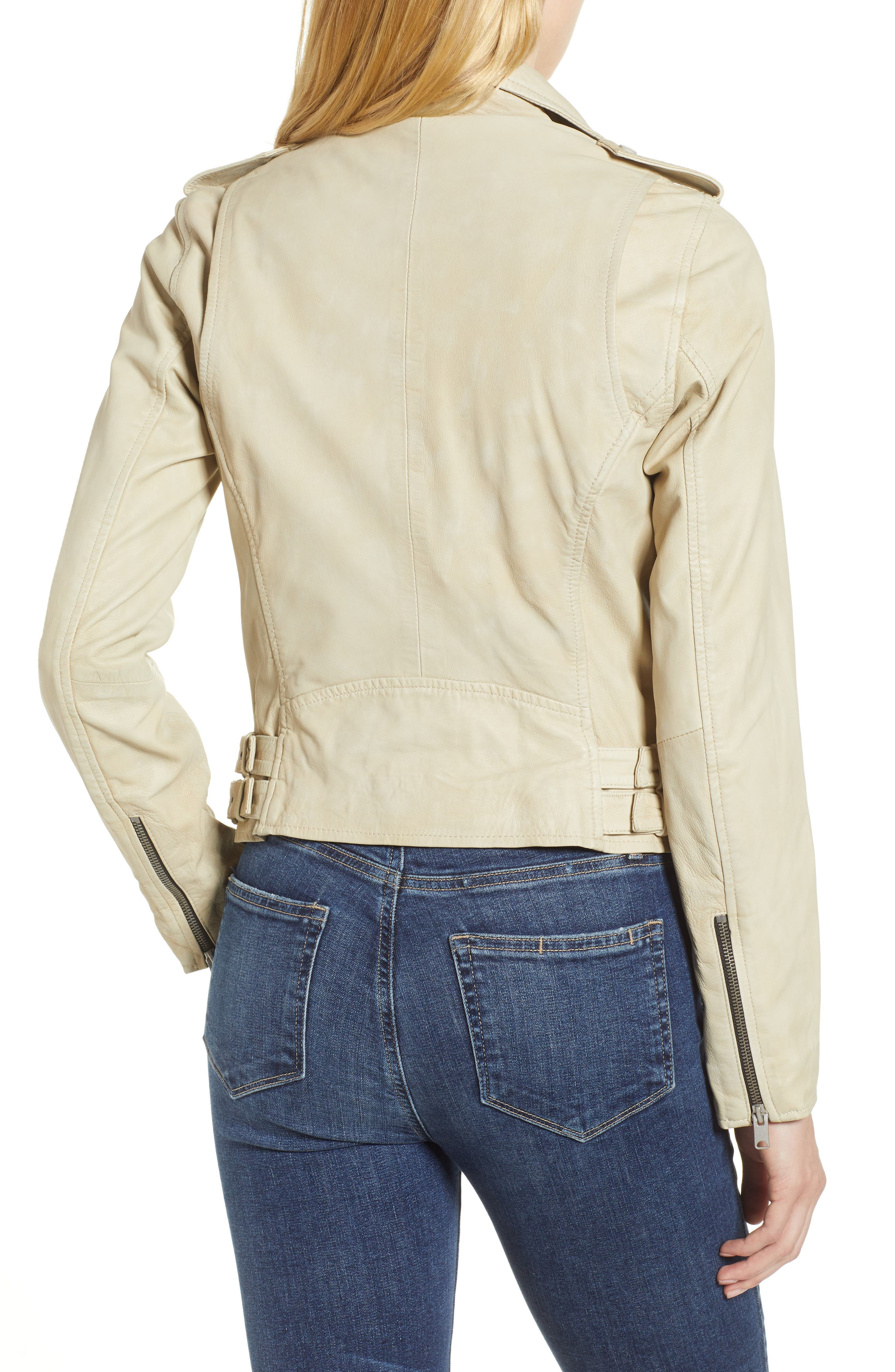 Whitney Washed Leather Crop Jacket,                             Alternate thumbnail 2, color,                             277