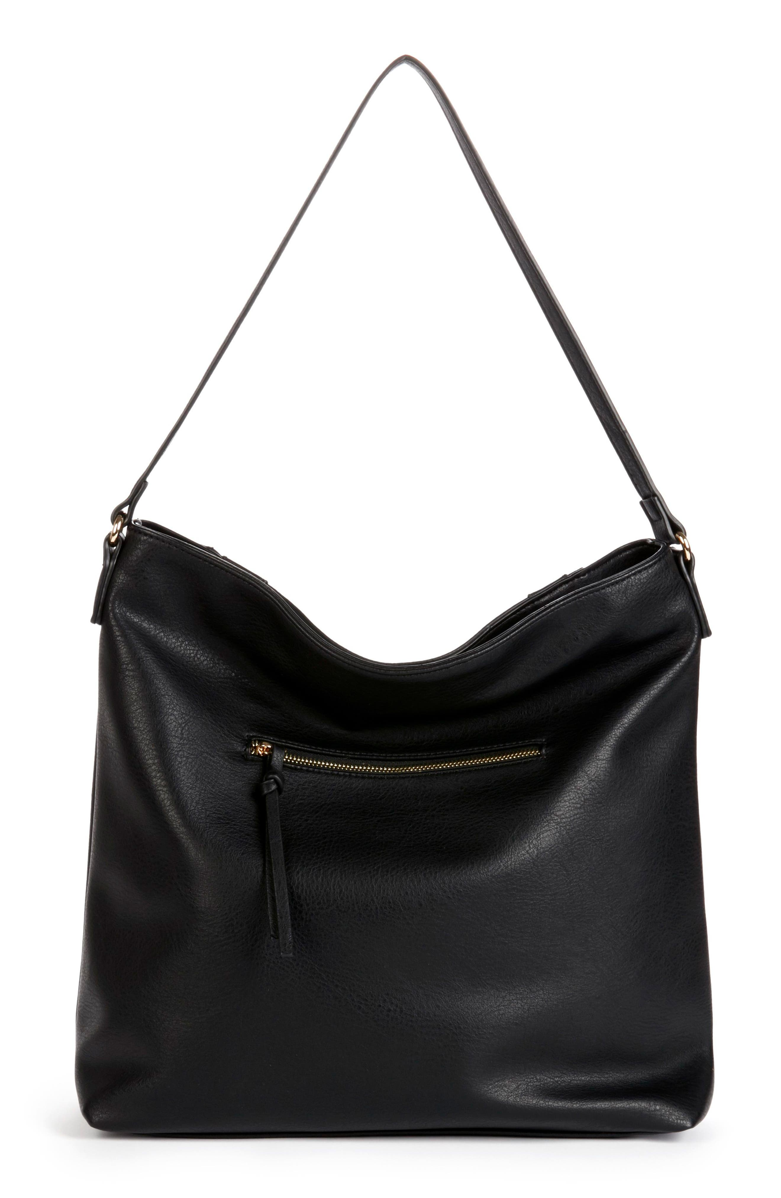 Destin Faux Leather Hobo Bag,                             Alternate thumbnail 2, color,                             001