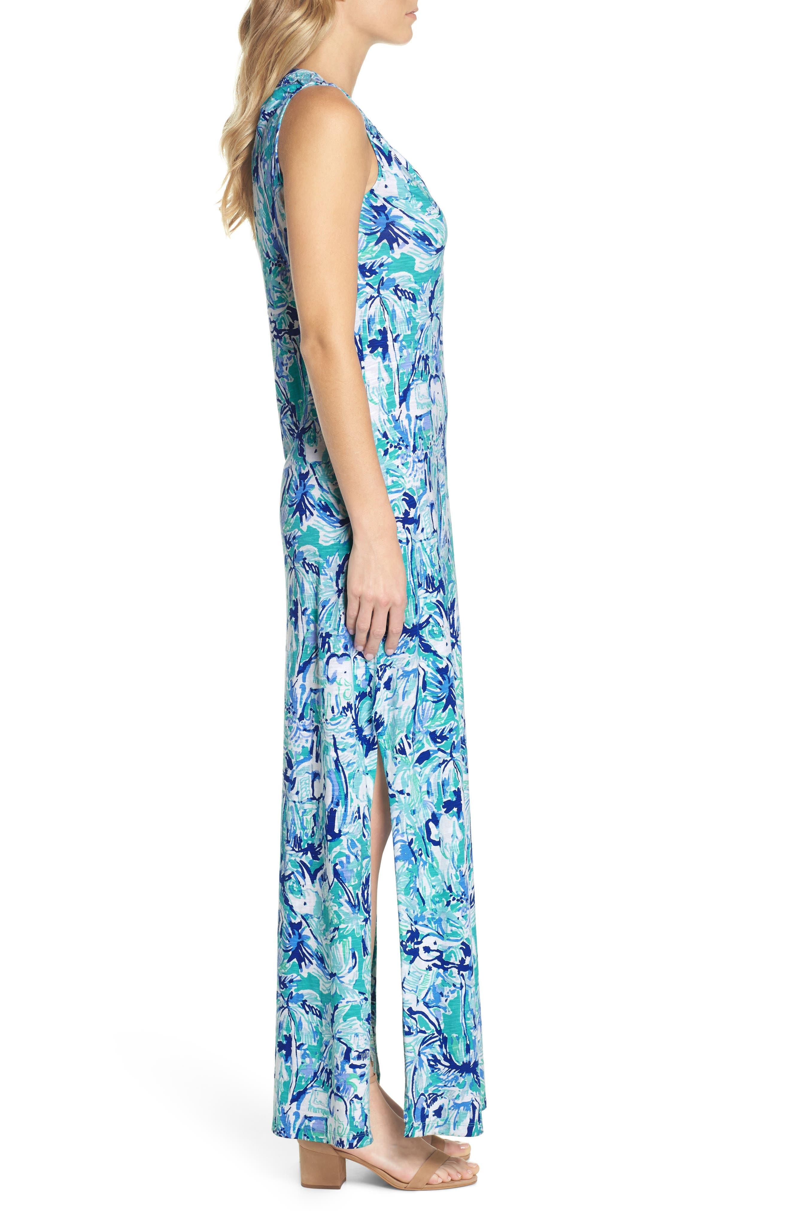 Essie Maxi Dress,                             Alternate thumbnail 3, color,                             421