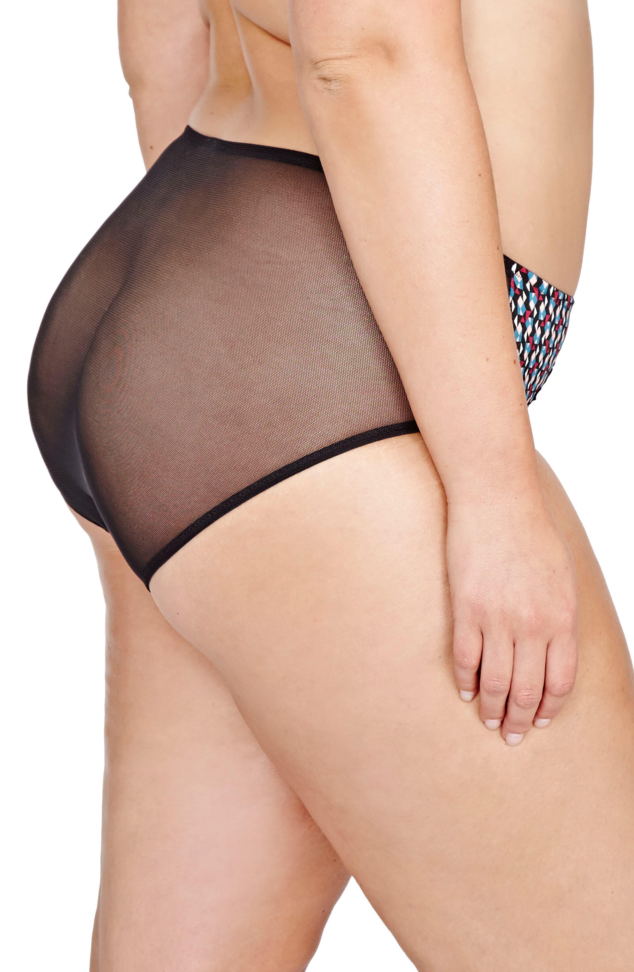 Déesse Lingerie Teddy Girl High Cut Panties,                             Alternate thumbnail 2, color,