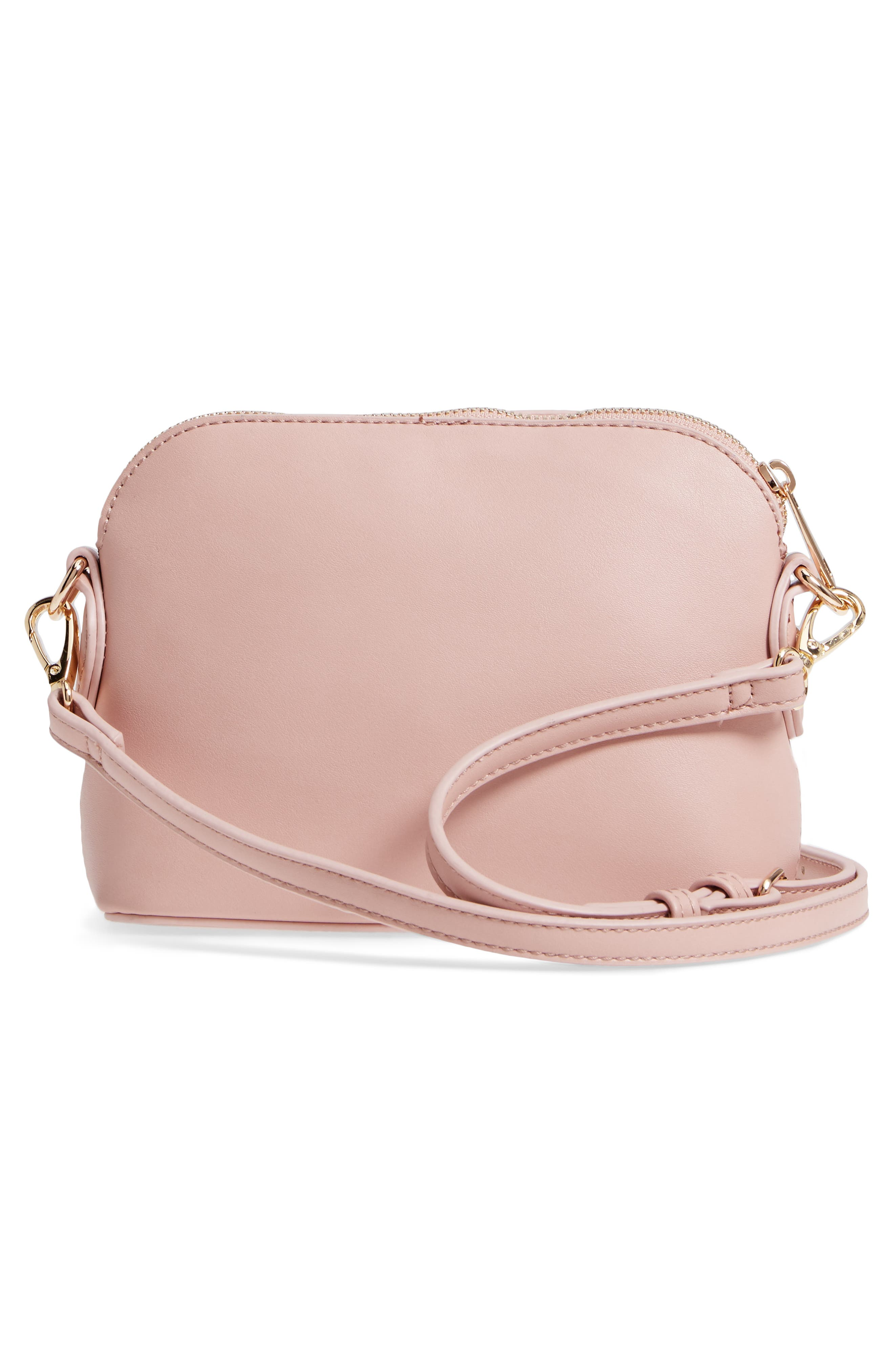 Structured Faux Leather Dome Crossbody,                             Alternate thumbnail 12, color,