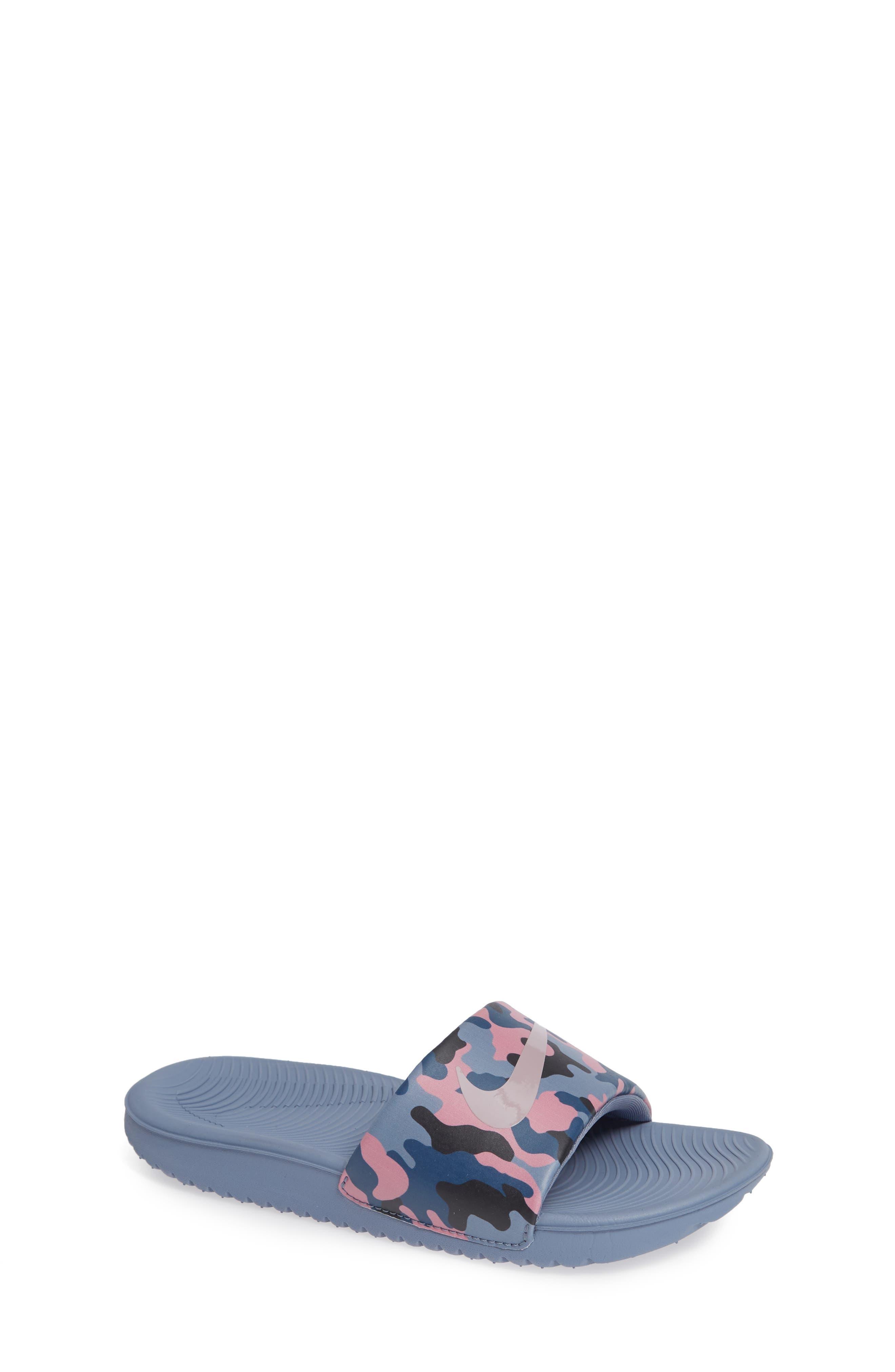 Kawa Slide Sandal, Main, color, SLATE/ ROSE/ DIFFUSED BLUE