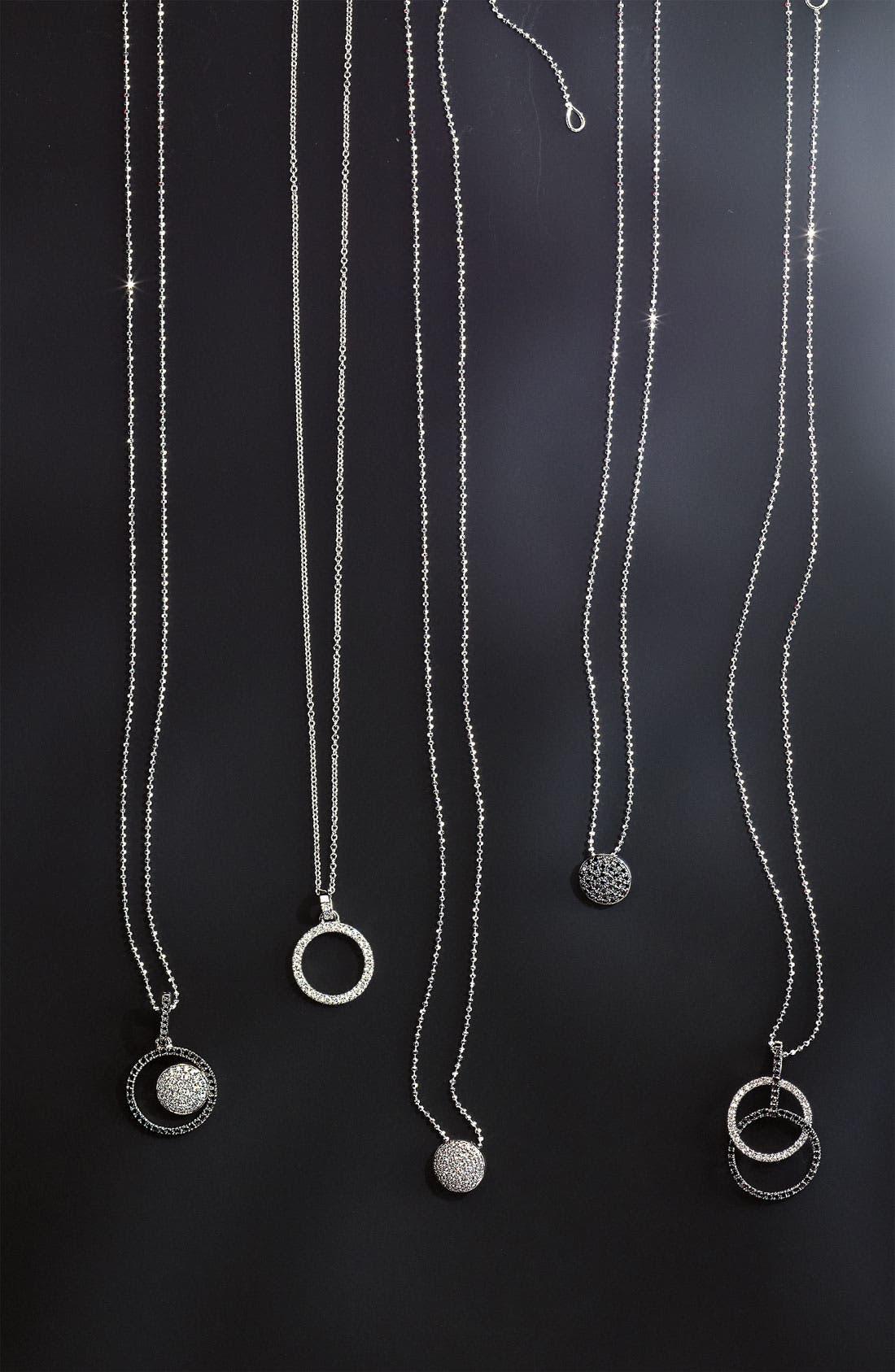 'Eclipse' Pavé Diamond Pendant Necklace,                             Alternate thumbnail 4, color,                             710