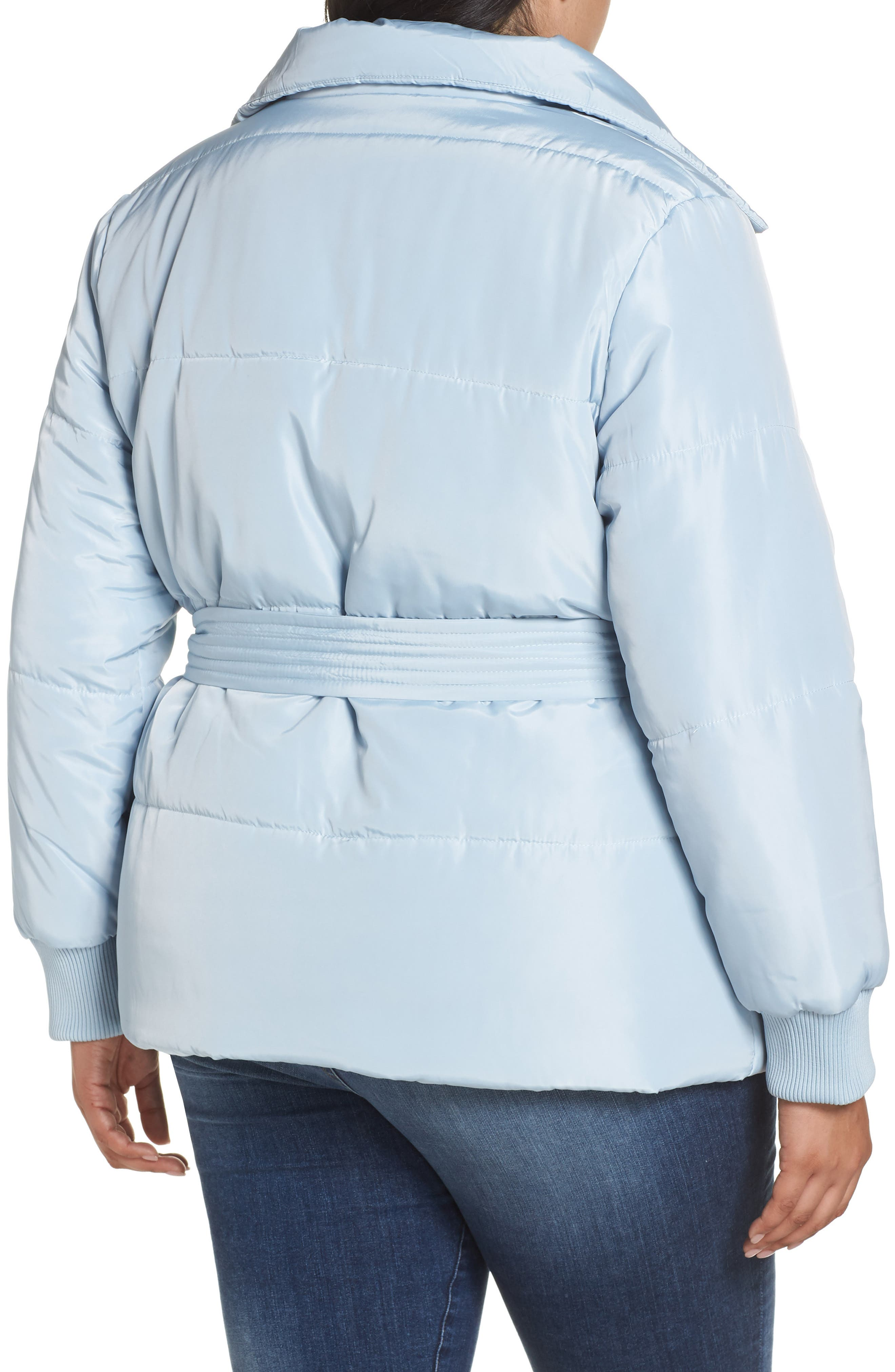 Belted Quilted Jacket,                             Alternate thumbnail 2, color,                             BLUE