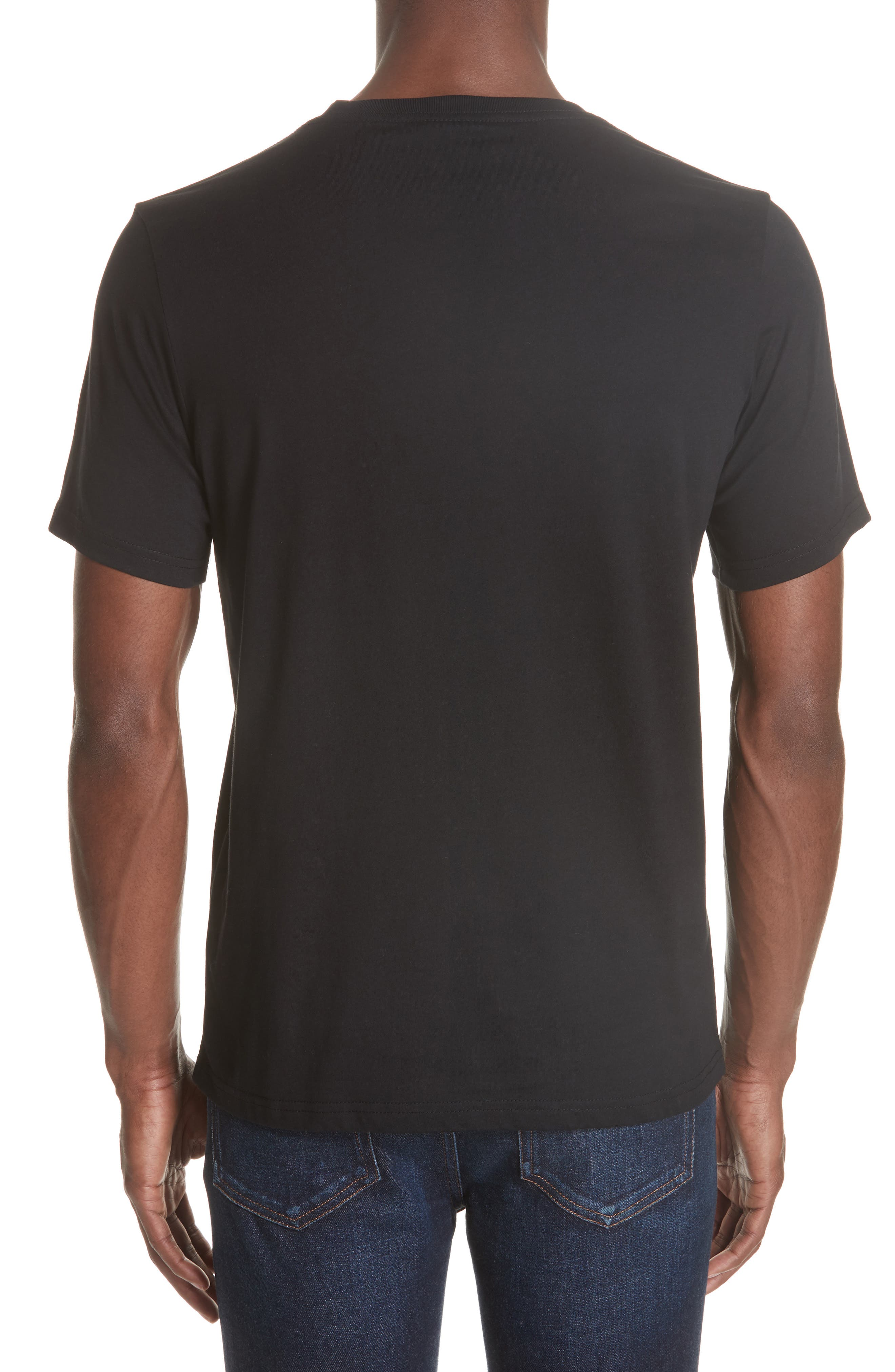 Skull Graphic T-Shirt,                             Alternate thumbnail 2, color,                             BLACK