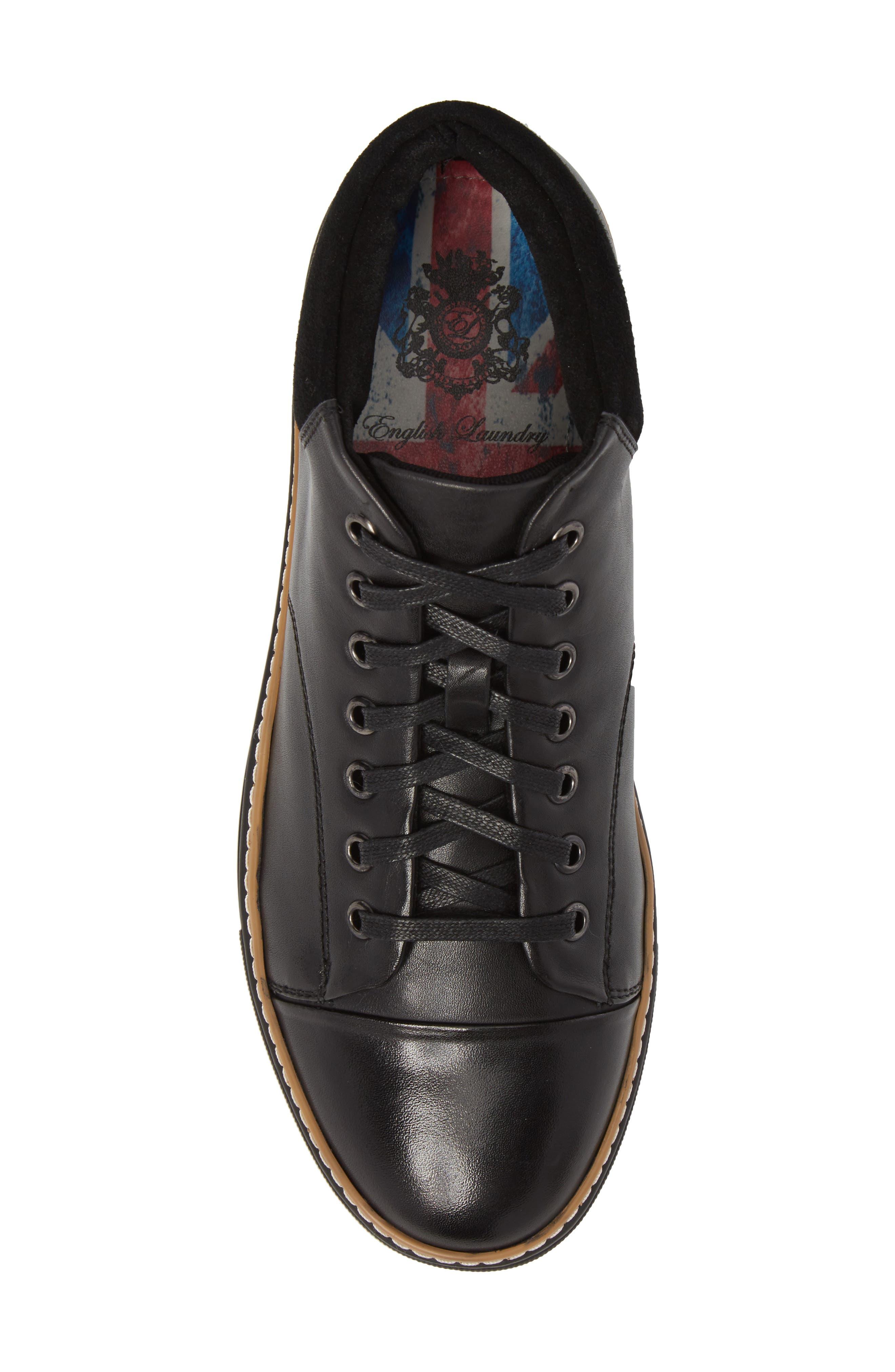 Grove Sneaker,                             Alternate thumbnail 5, color,                             BLACK LEATHER