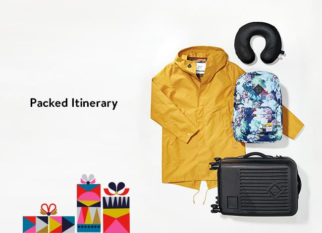 Packed itinerary: gifts for the traveler.